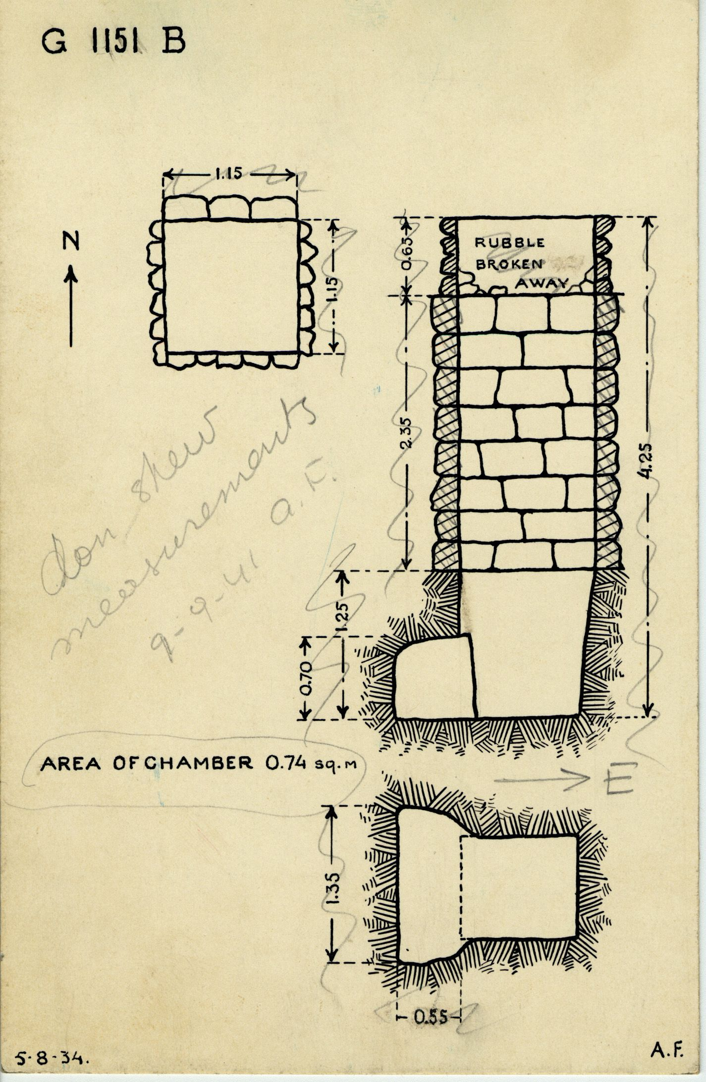 Maps and plans: G 1151, Shaft B
