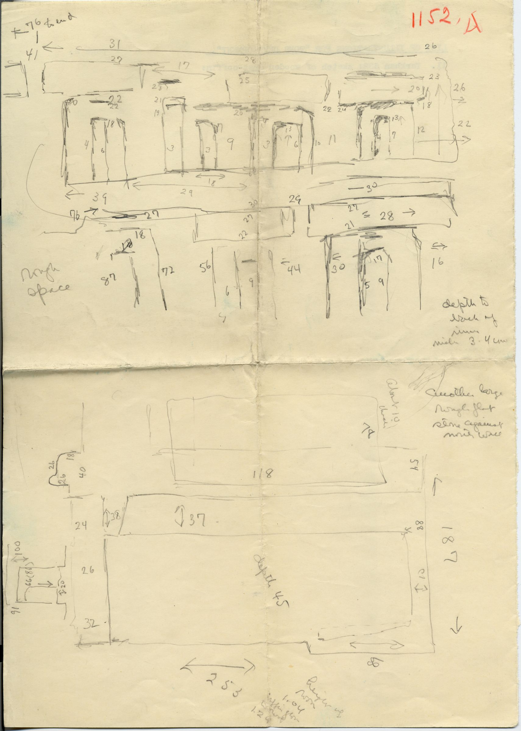 Maps and plans: G 1152, Shaft A