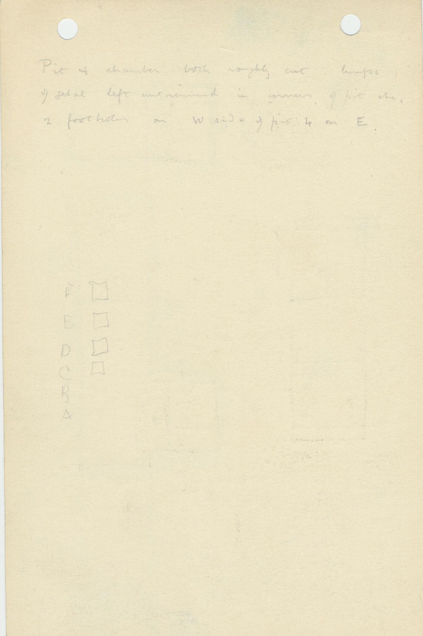Notes: G 1154, Shaft B (I), notes