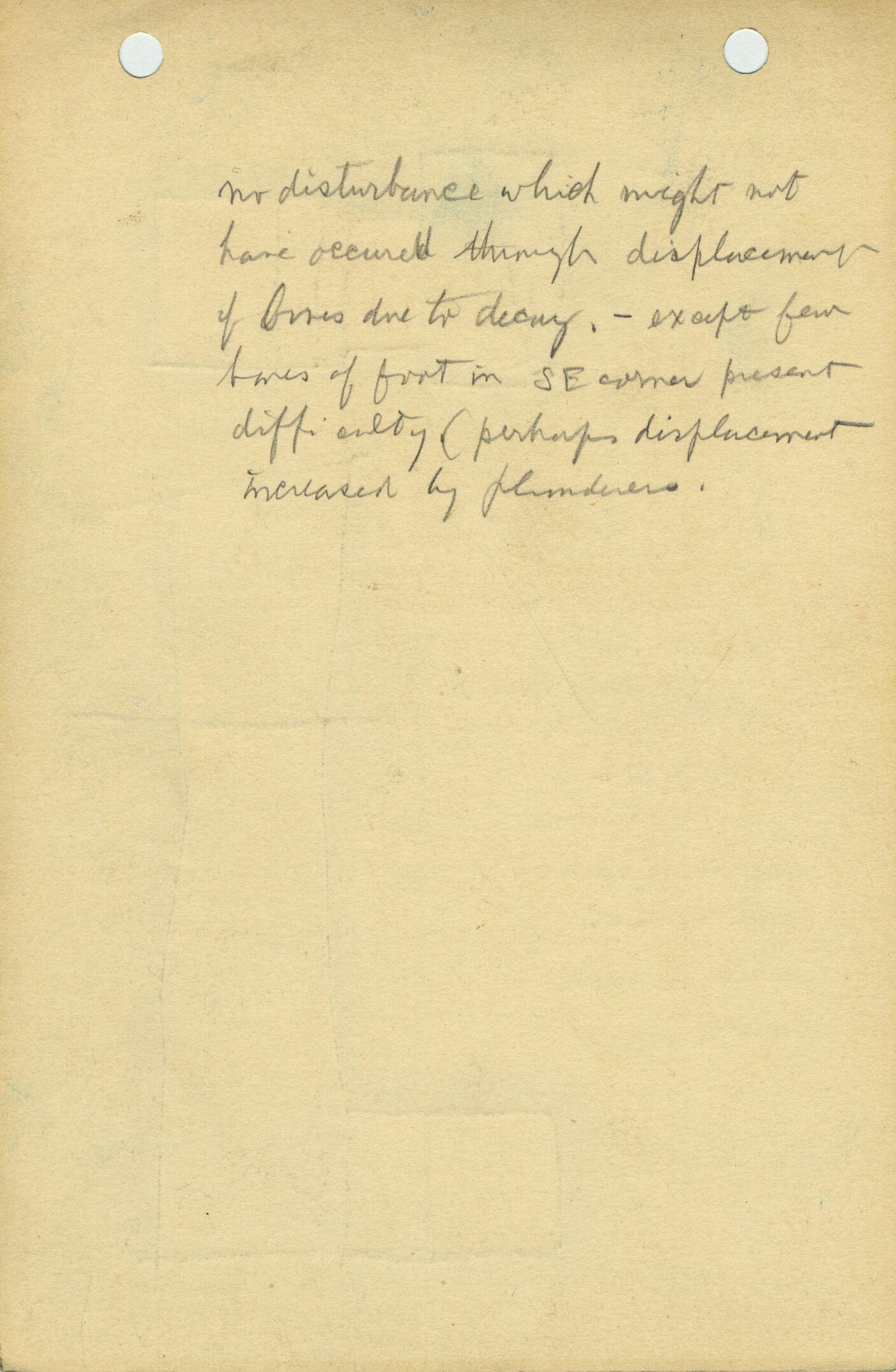 Notes: G 1156, Shaft C (I), notes