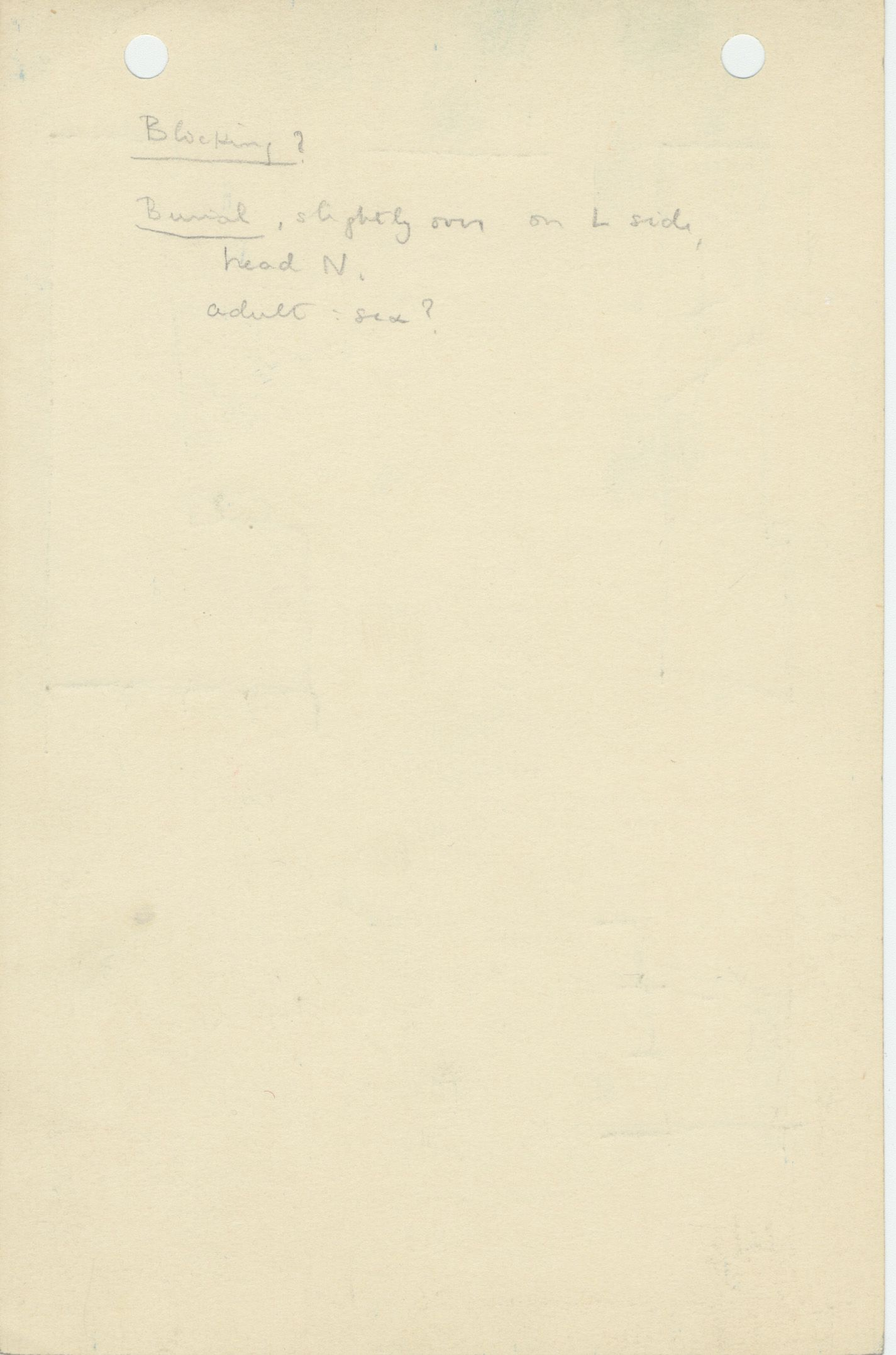 Notes: G 1156, Shaft U, notes