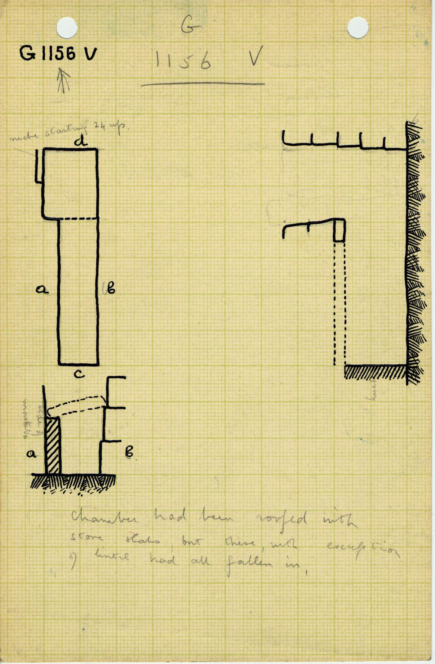Maps and plans: G 1156, Shaft V