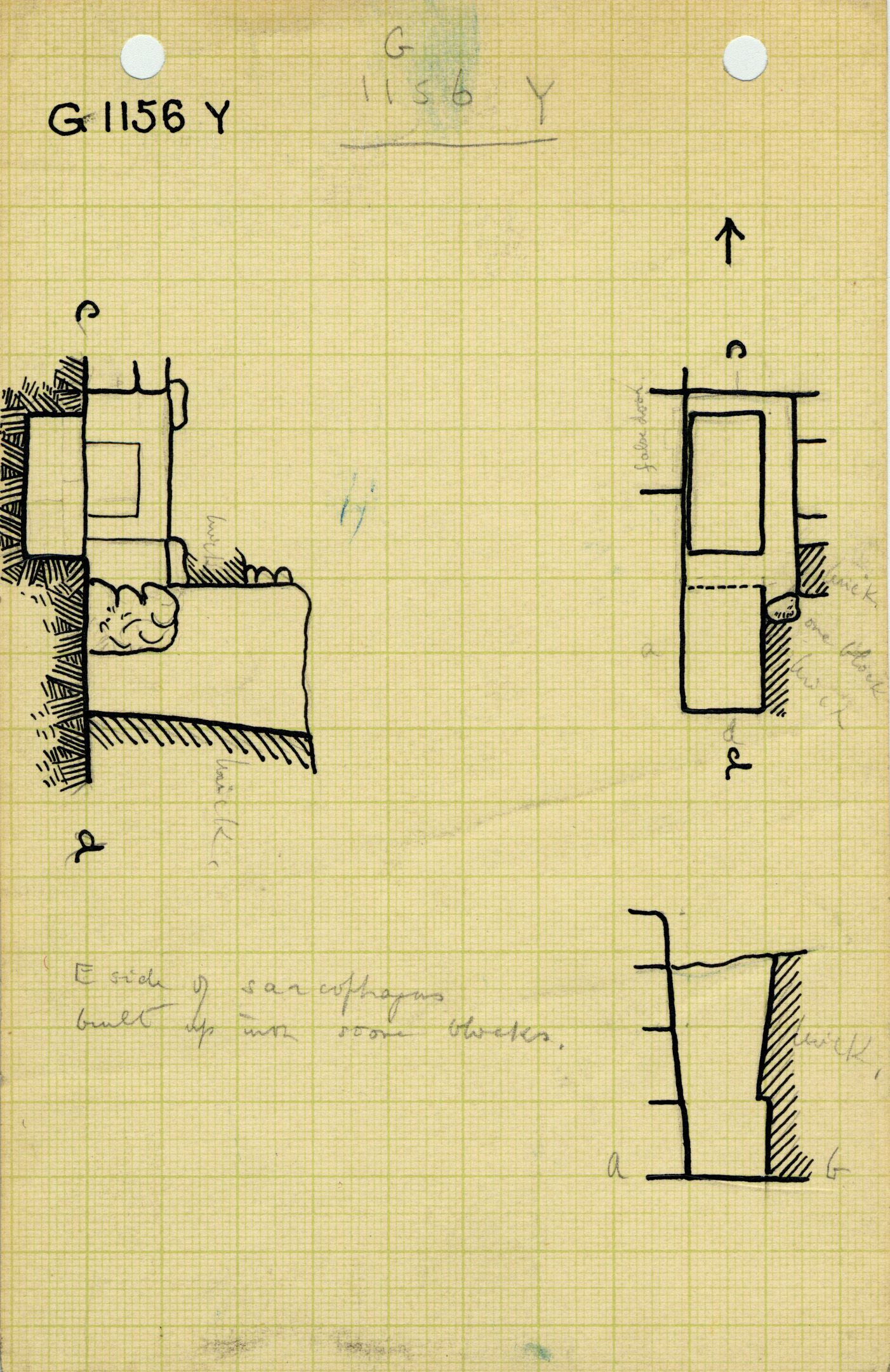 Maps and plans: G 1156, Shaft Y