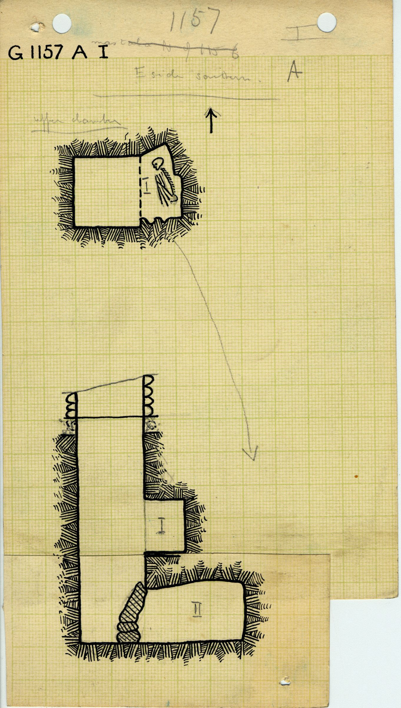 Maps and plans: G 1157, Shaft A (I)