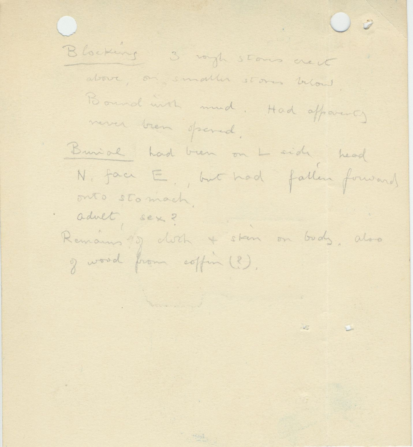 Notes: G 1157, Shaft A (II), notes