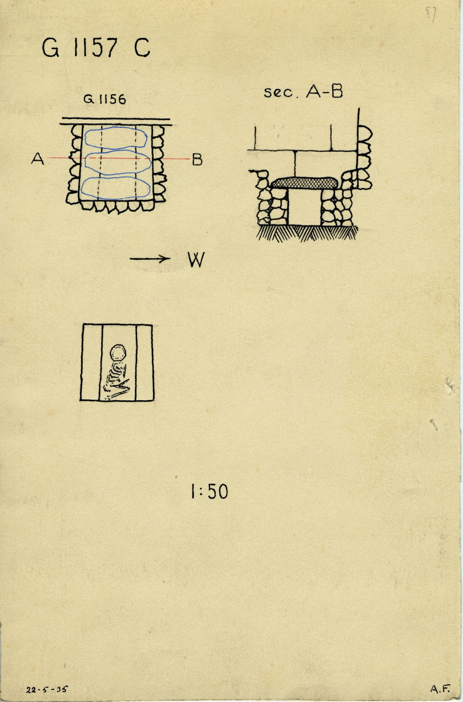 Maps and plans: G 1157, Shaft C