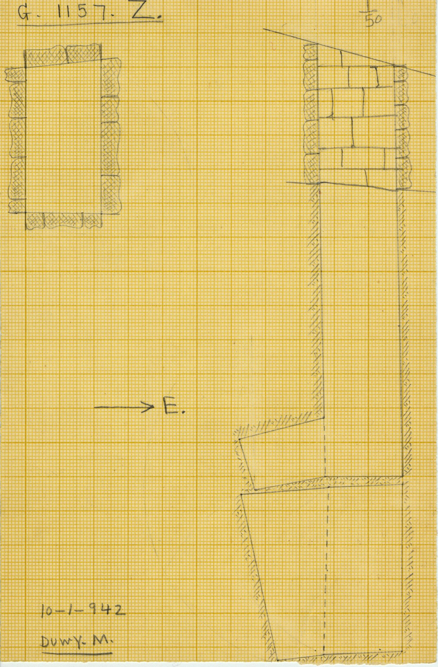 Maps and plans: G 1157, Shaft Z