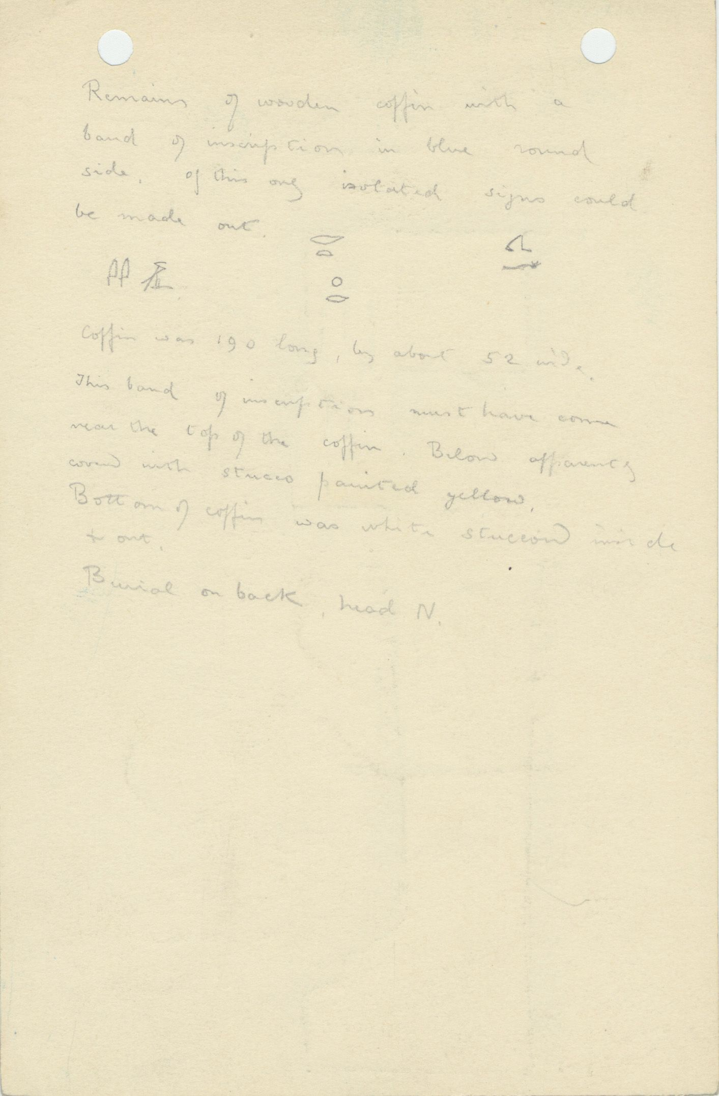 Notes: G 1158, Shaft A (I), notes