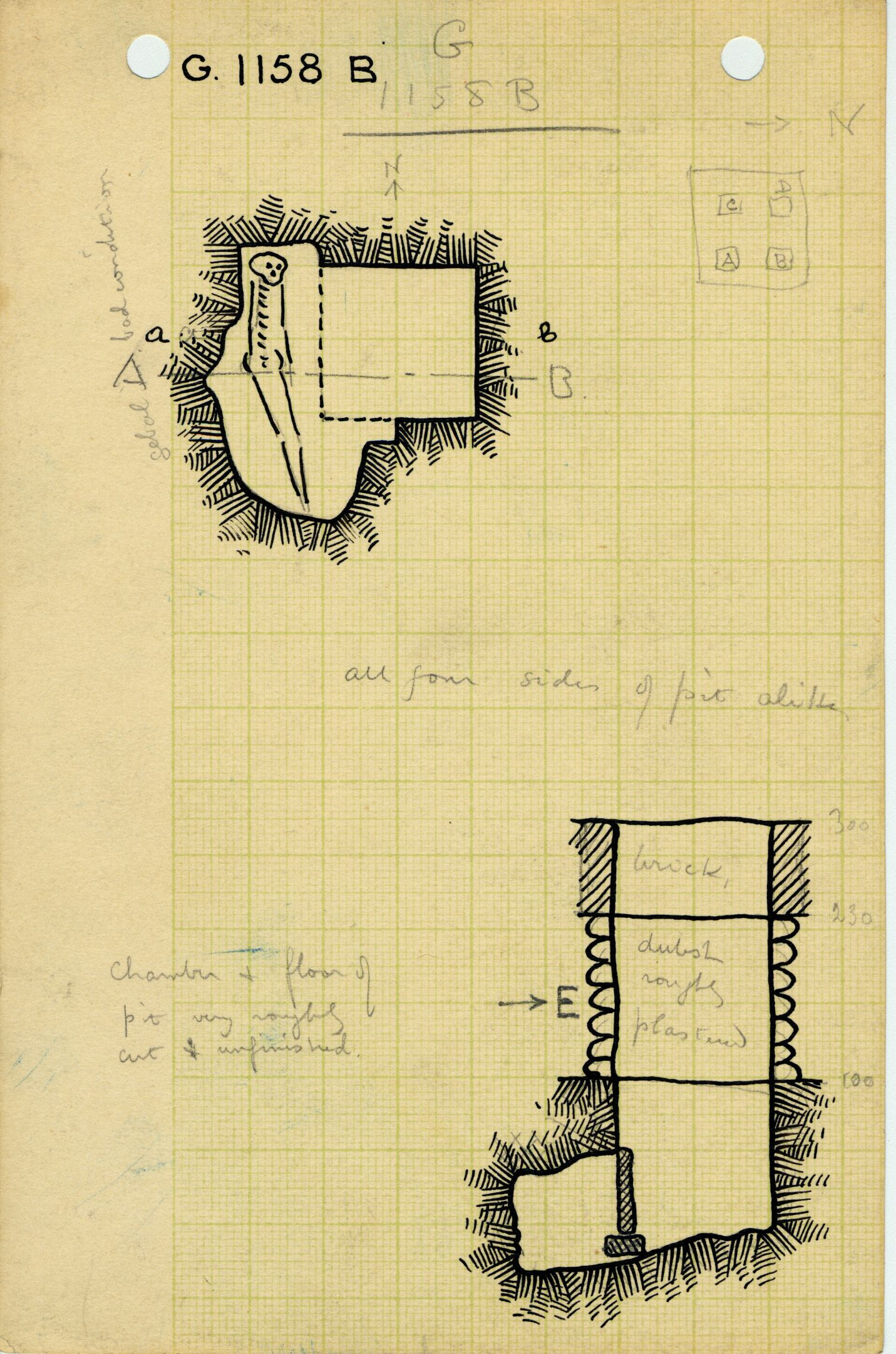 Maps and plans: G 1158, Shaft B