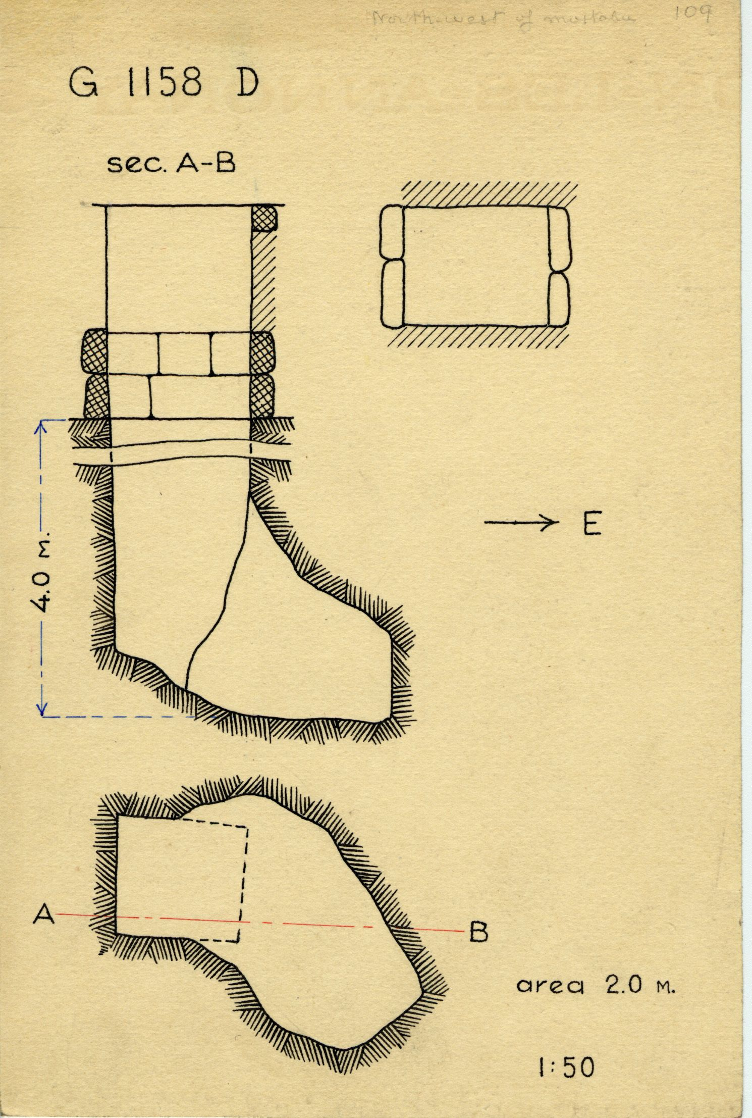 Maps and plans: G 1158, Shaft D