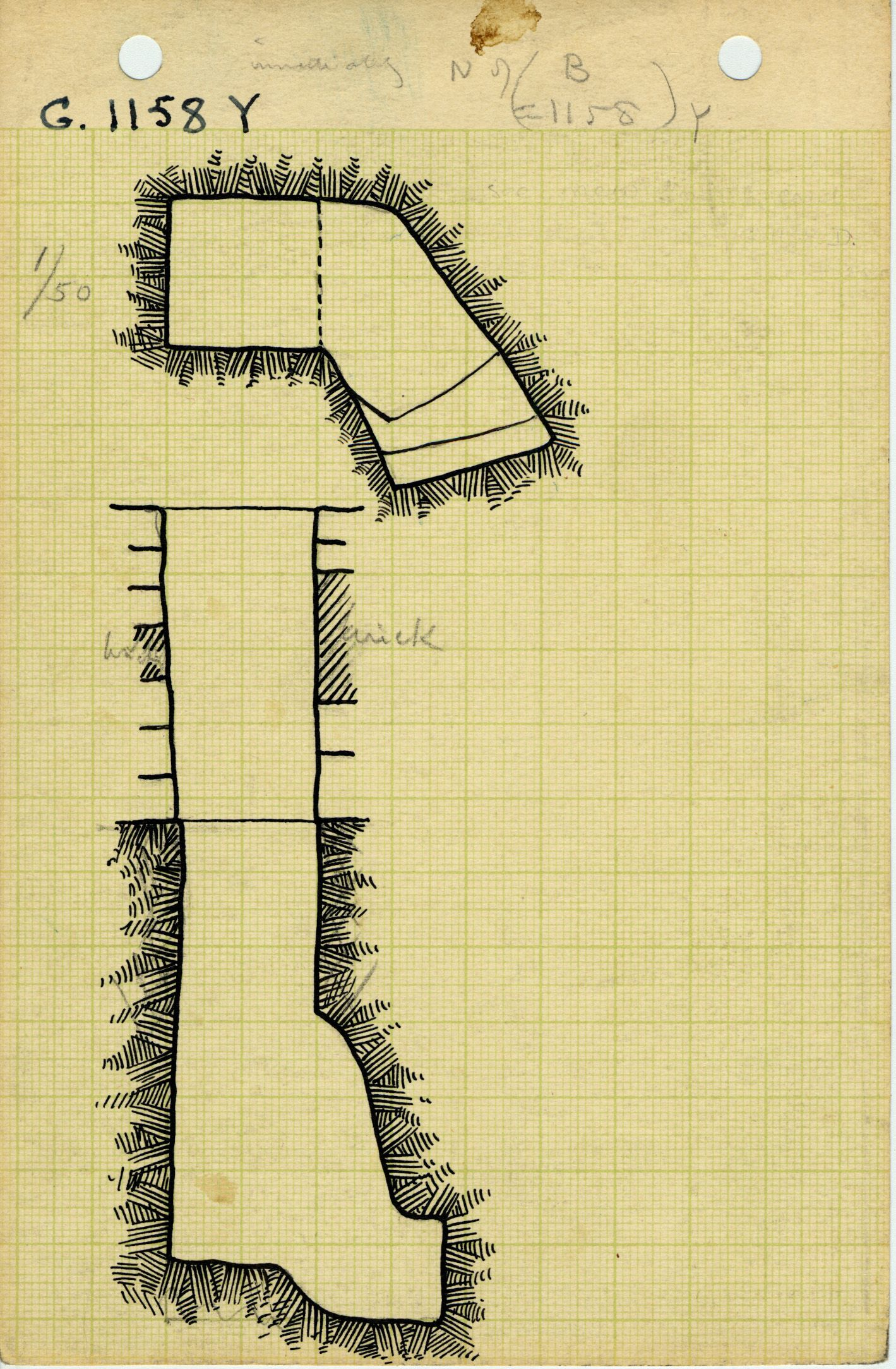 Maps and plans: G 1158, Shaft Y