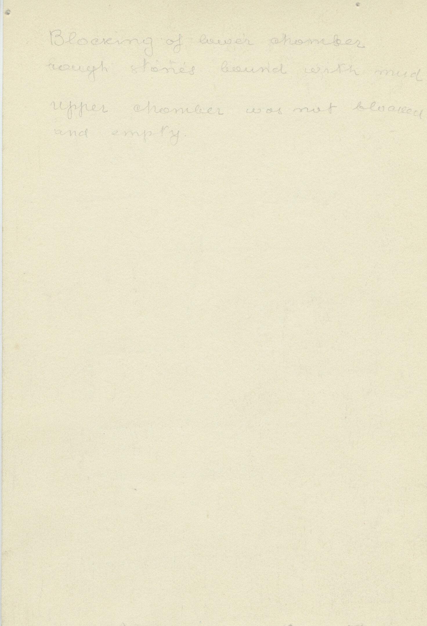Notes: G 1163+1166: G 1166, Shaft B, notes