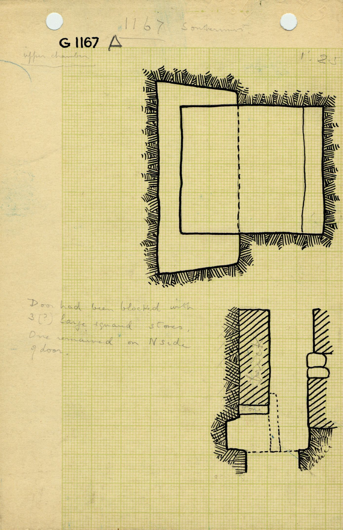 Maps and plans: G 1167, Shaft A (I)