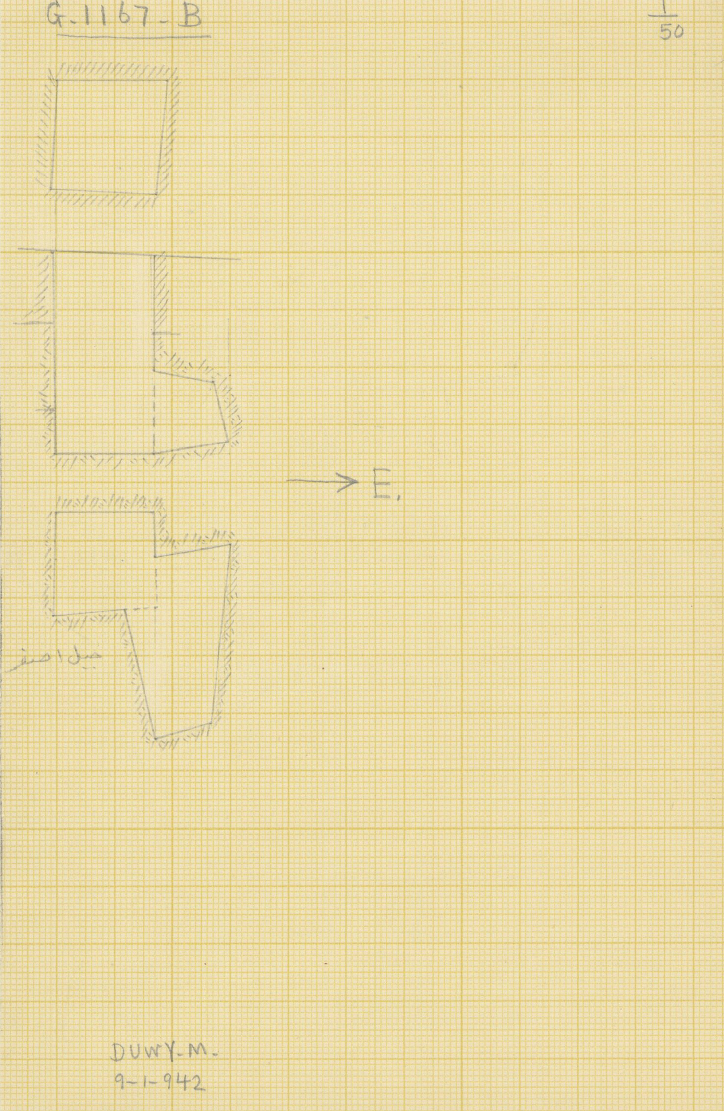 Maps and plans: G 1167, Shaft B