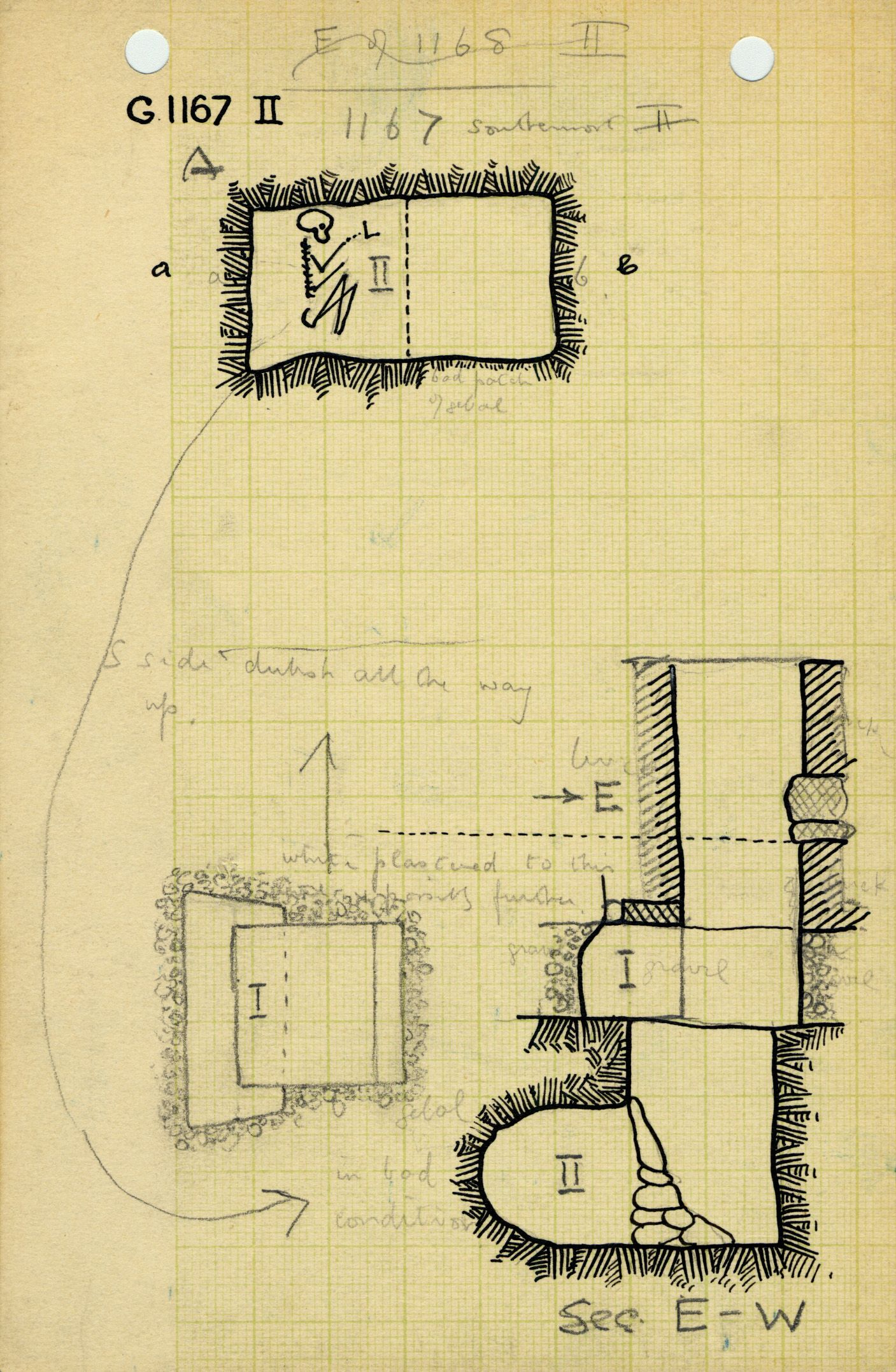 Maps and plans: G 1167, Shaft A (II)