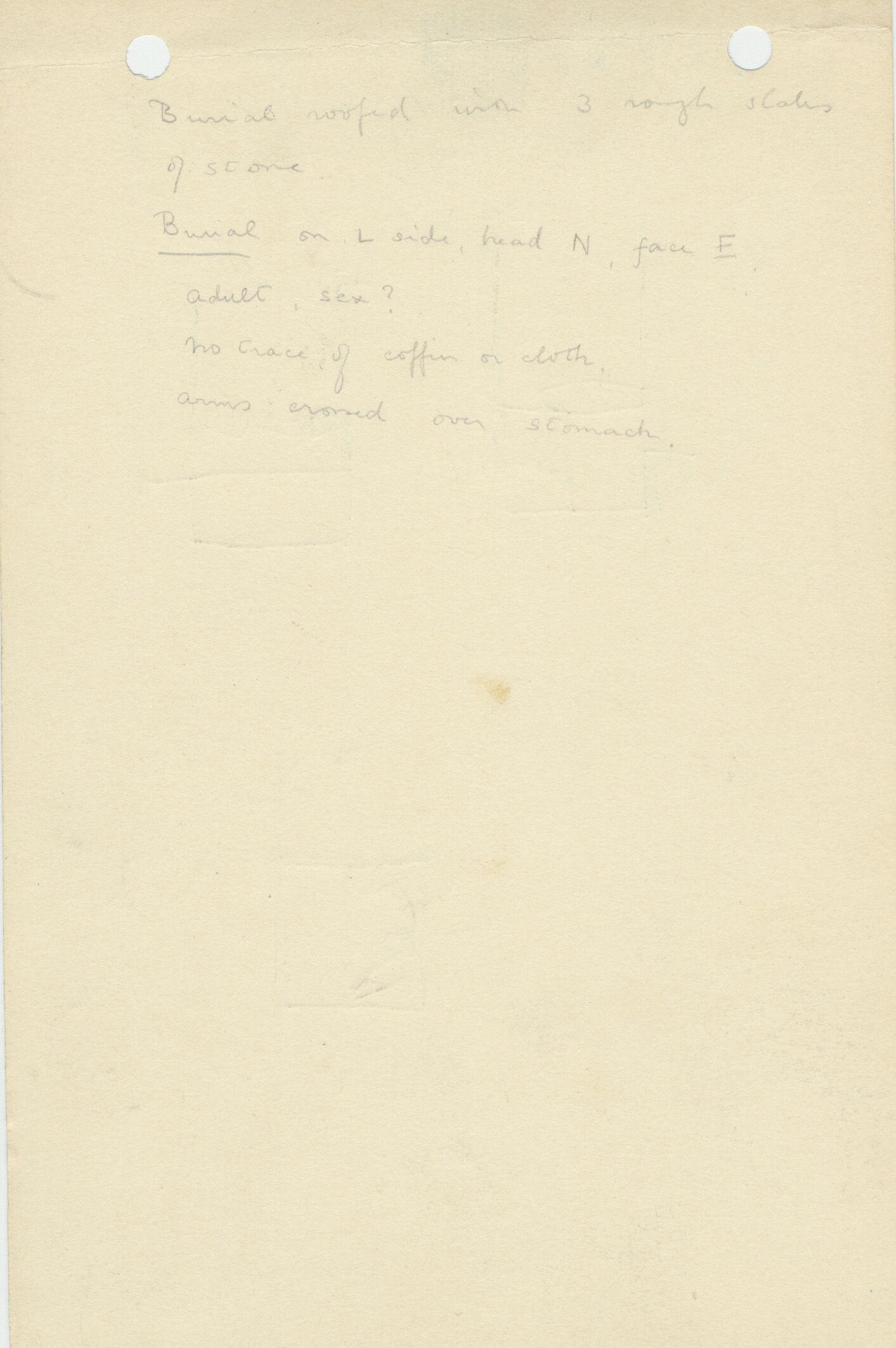 Notes: G 1170, Shaft B, notes