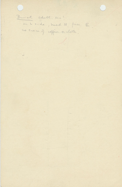 Notes: G 1171, Shaft B, notes