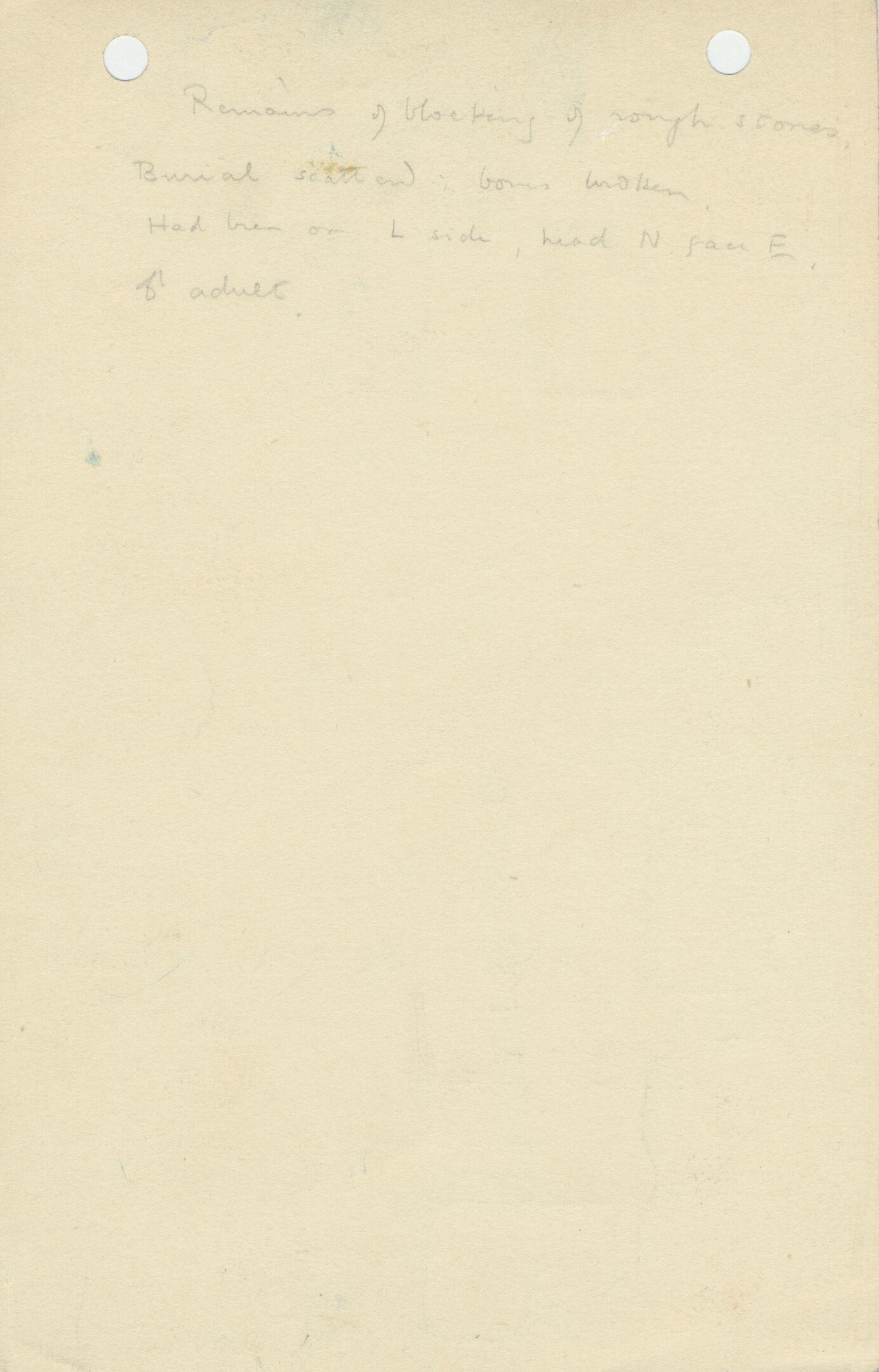 Notes: G 1171, Shaft D, notes
