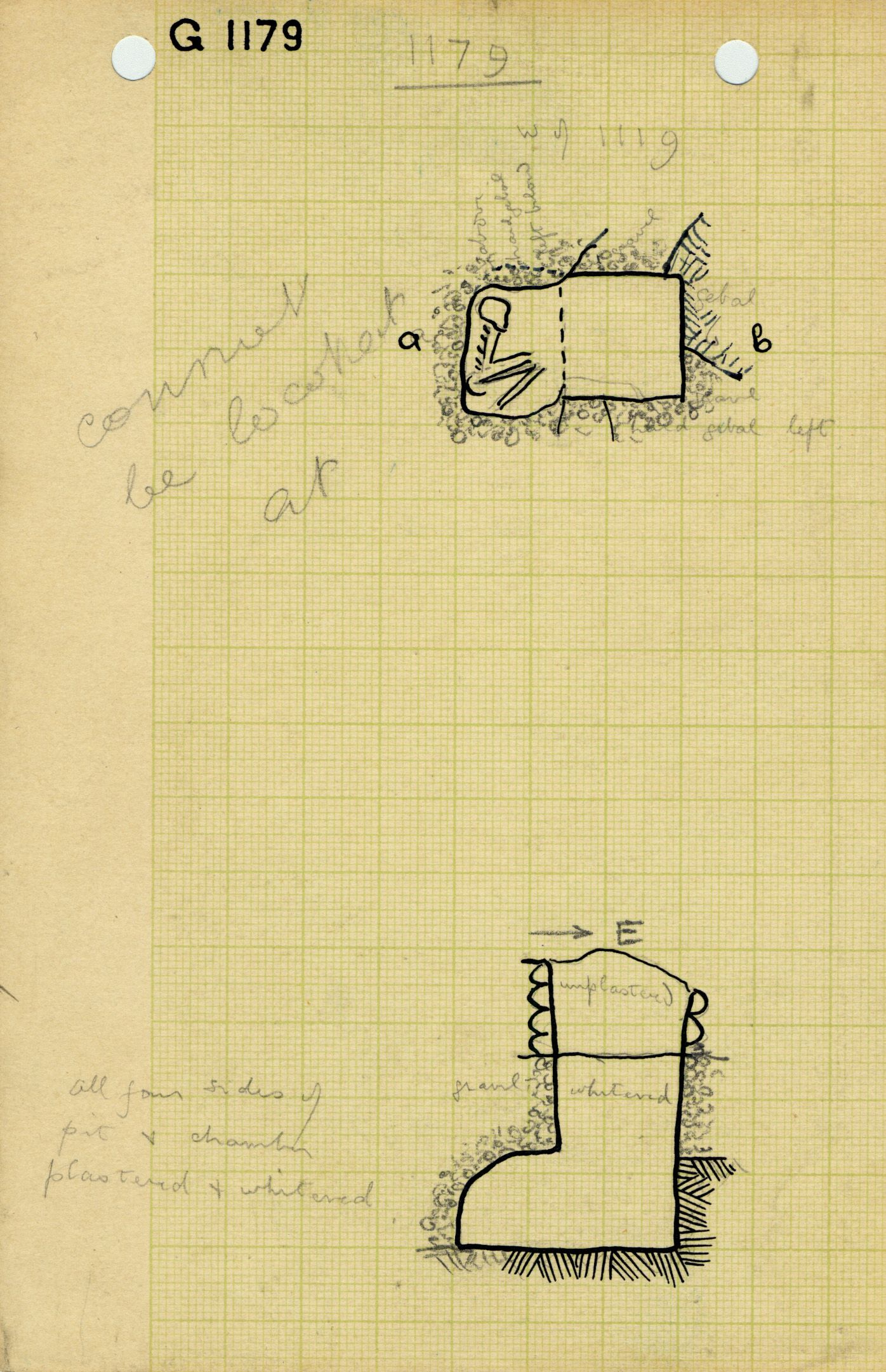 Maps and plans: G 1179, Shaft A