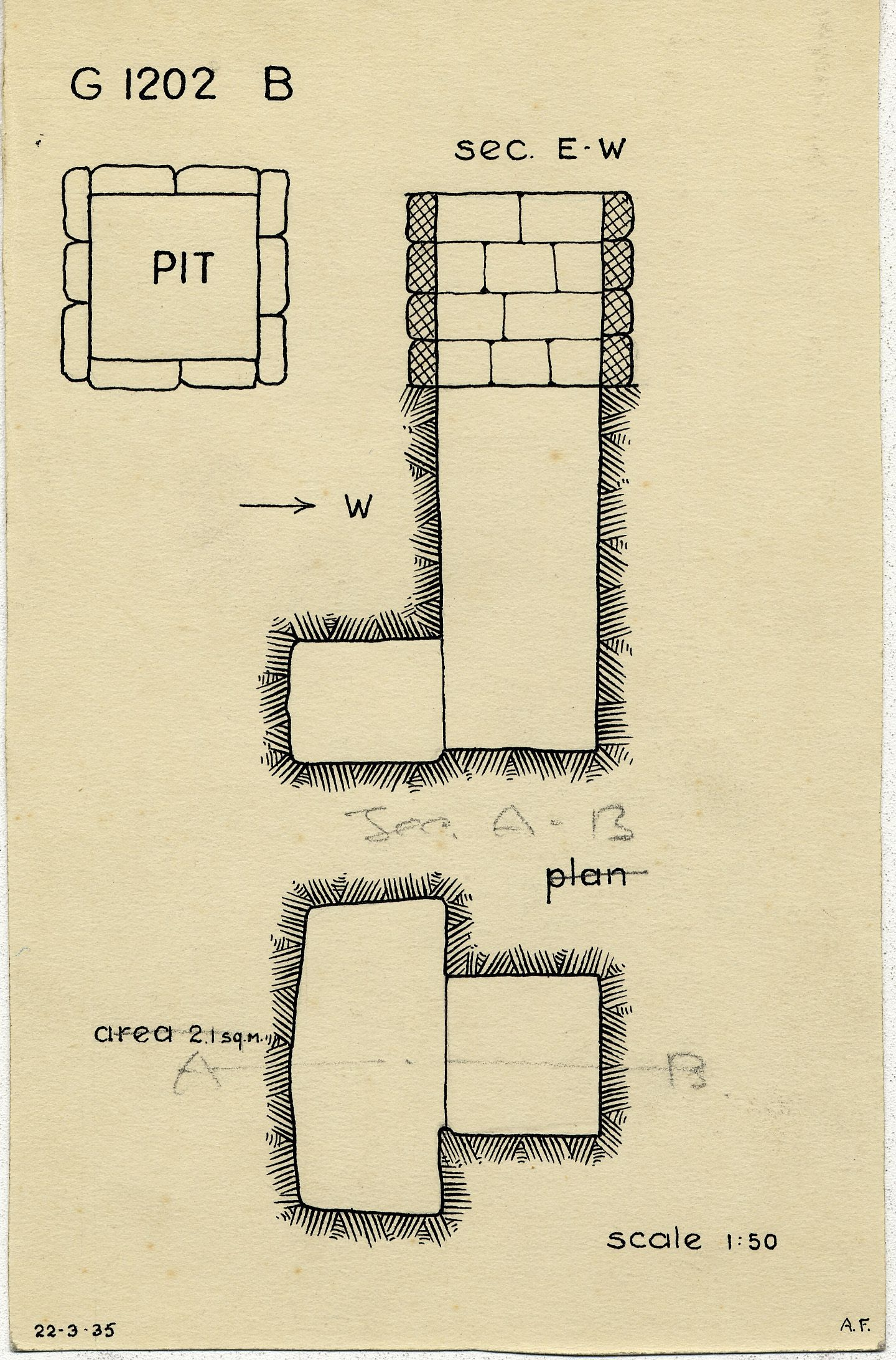 Maps and plans: G 1202, Shaft B