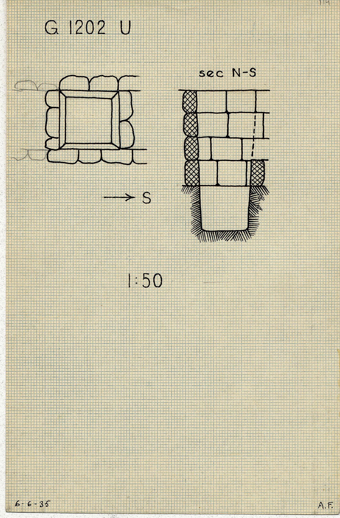 Maps and plans: G 1202, Shaft U