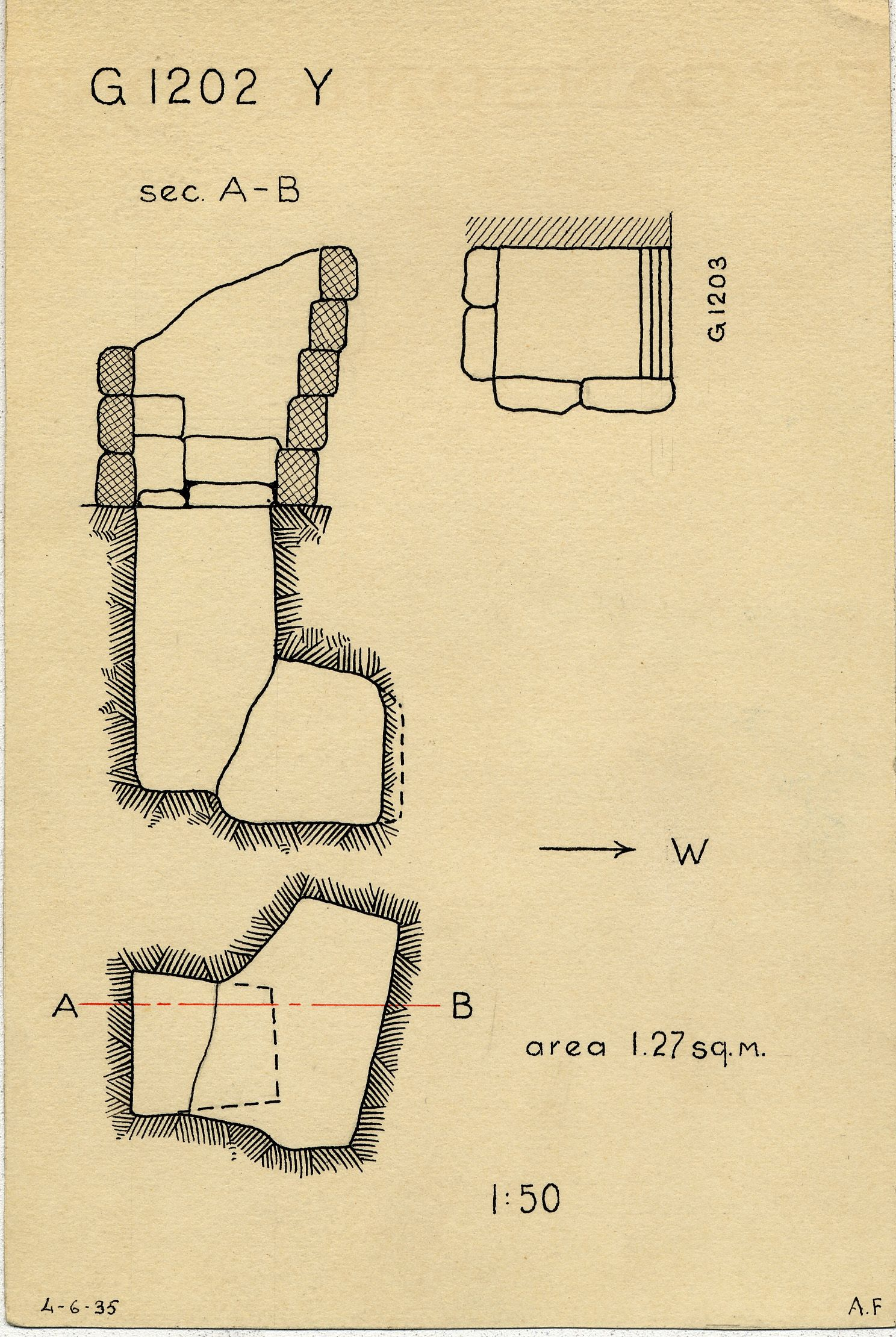 Maps and plans: G 1202, Shaft Y