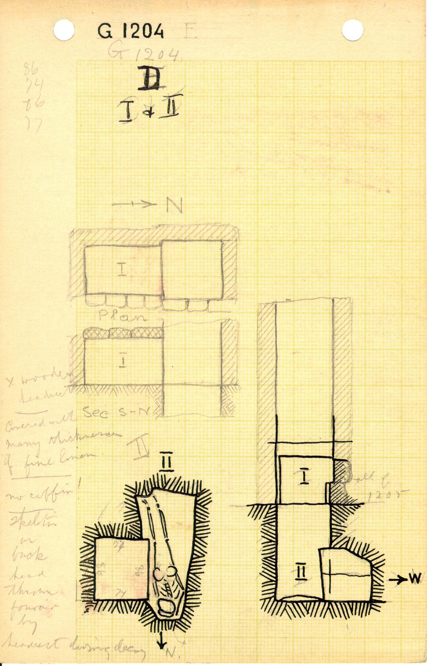 Maps and plans: G 1204, Shaft D (I & II)