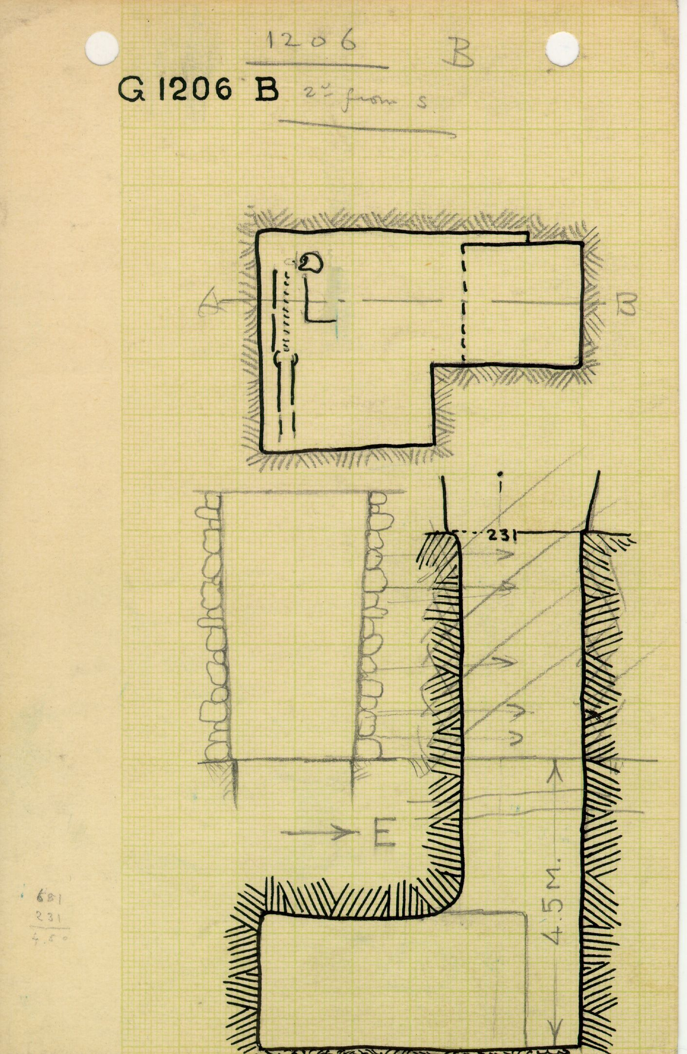 Maps and plans: G 1206, Shaft B
