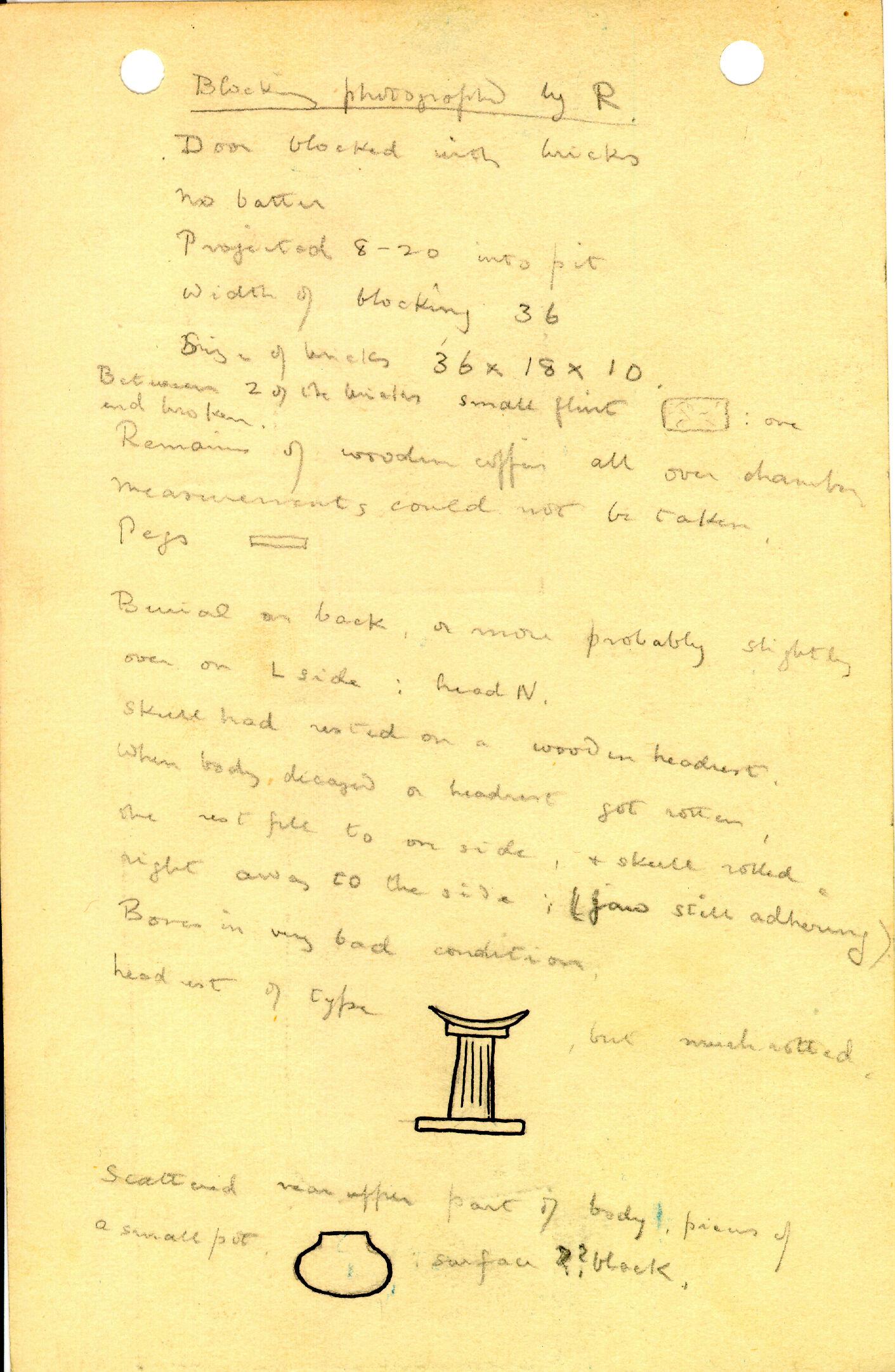Notes: G 1206, Shaft B, notes