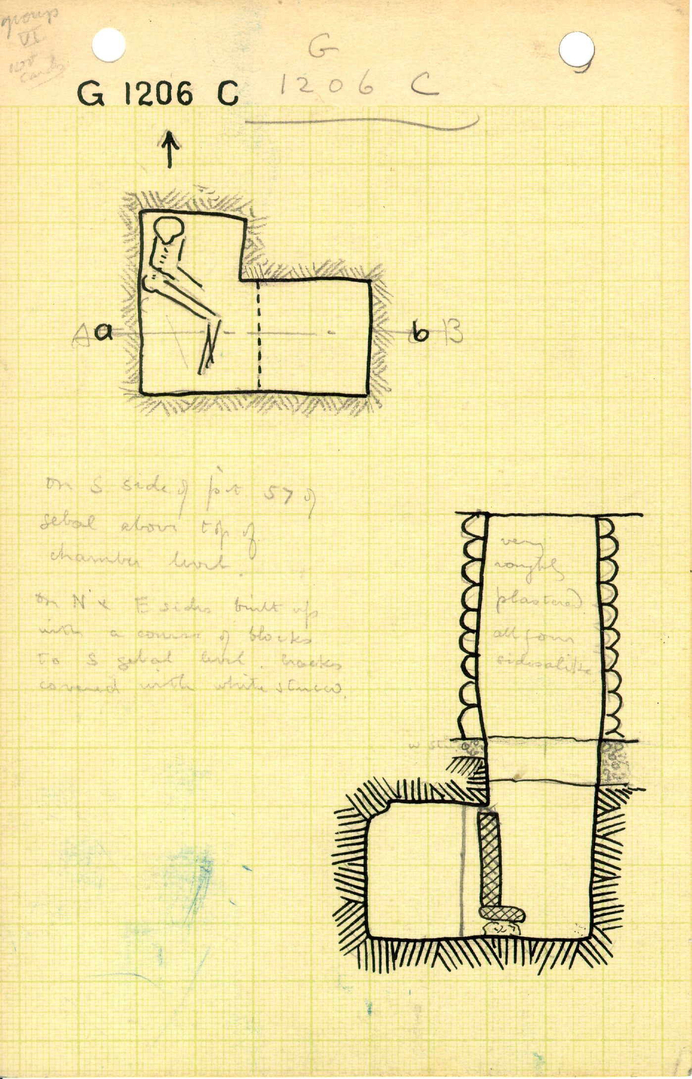 Maps and plans: G 1206, Shaft C