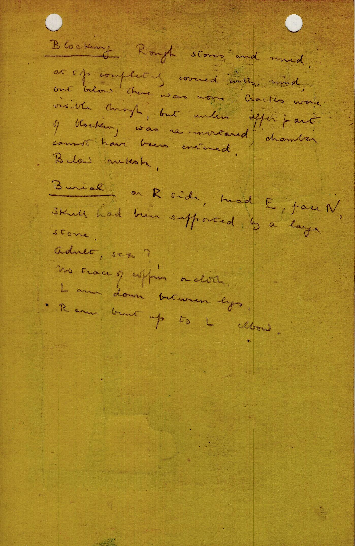 Notes: G 1206, Shaft D, notes