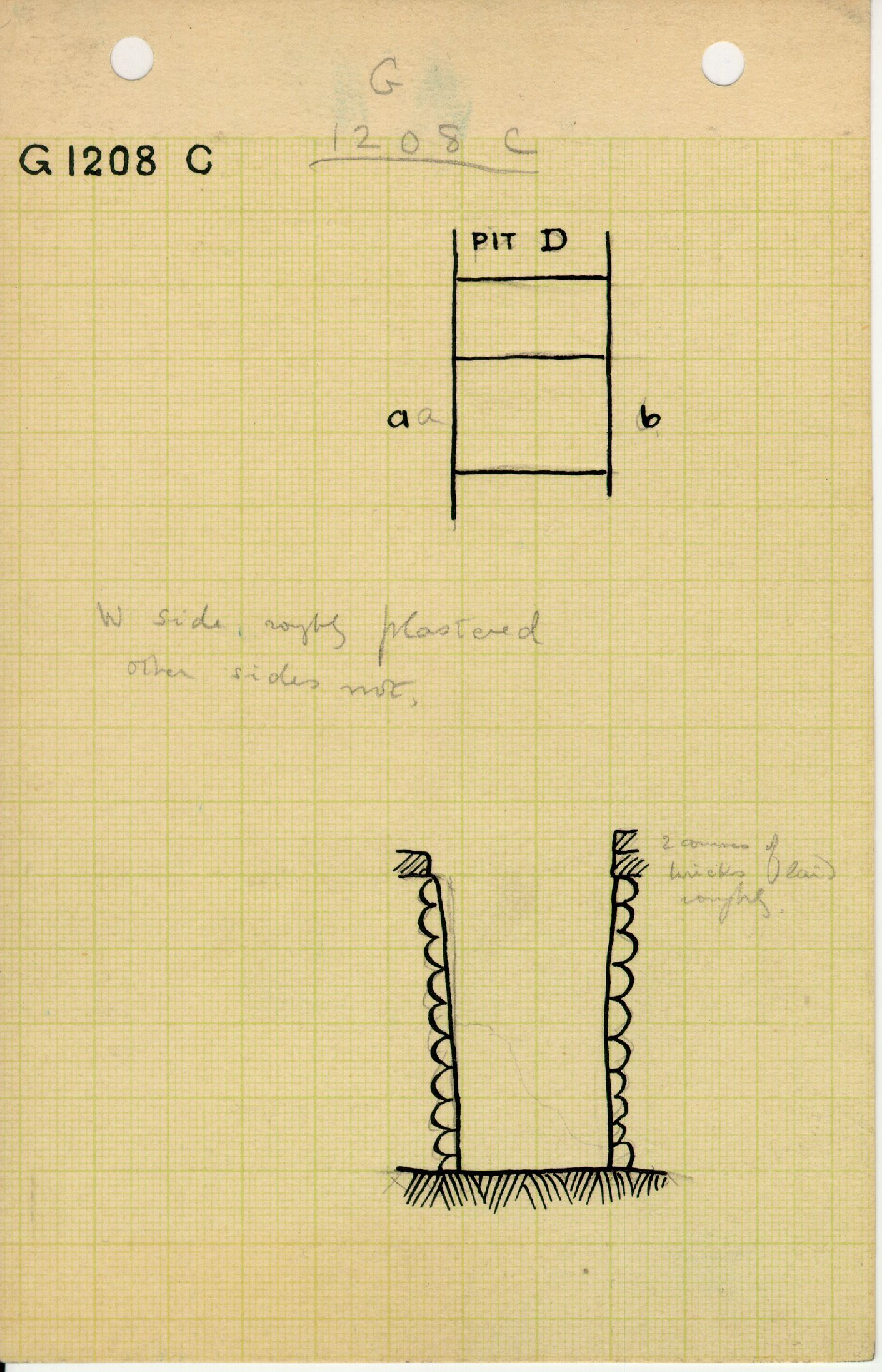 Maps and plans: G 1208, Shaft C