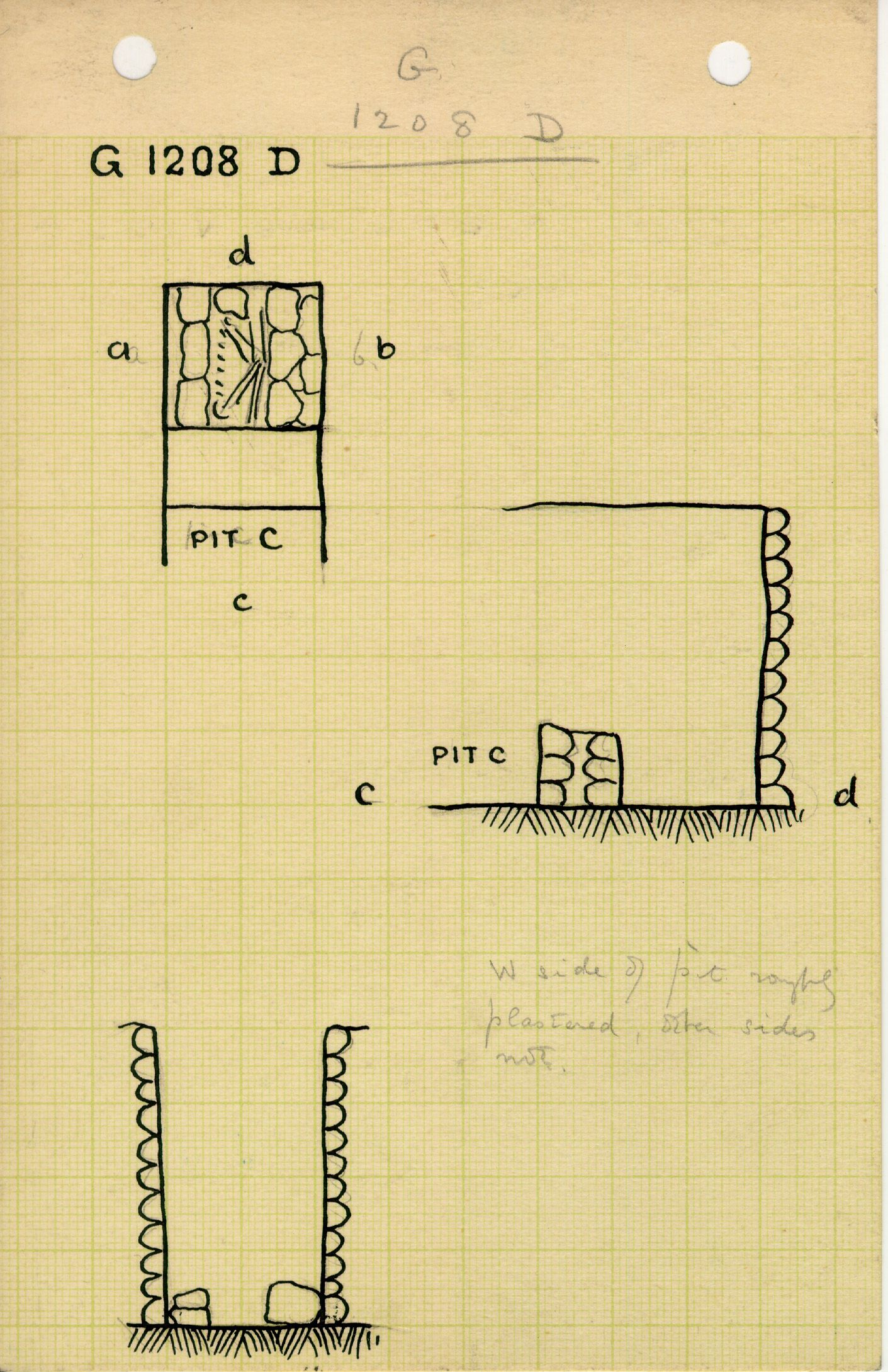 Maps and plans: G 1208, Shaft D