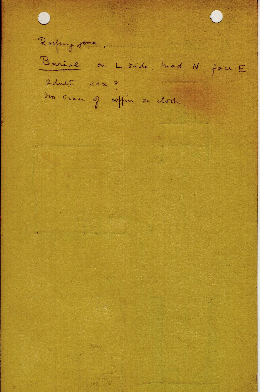 Notes: G 1208, Shaft D, notes