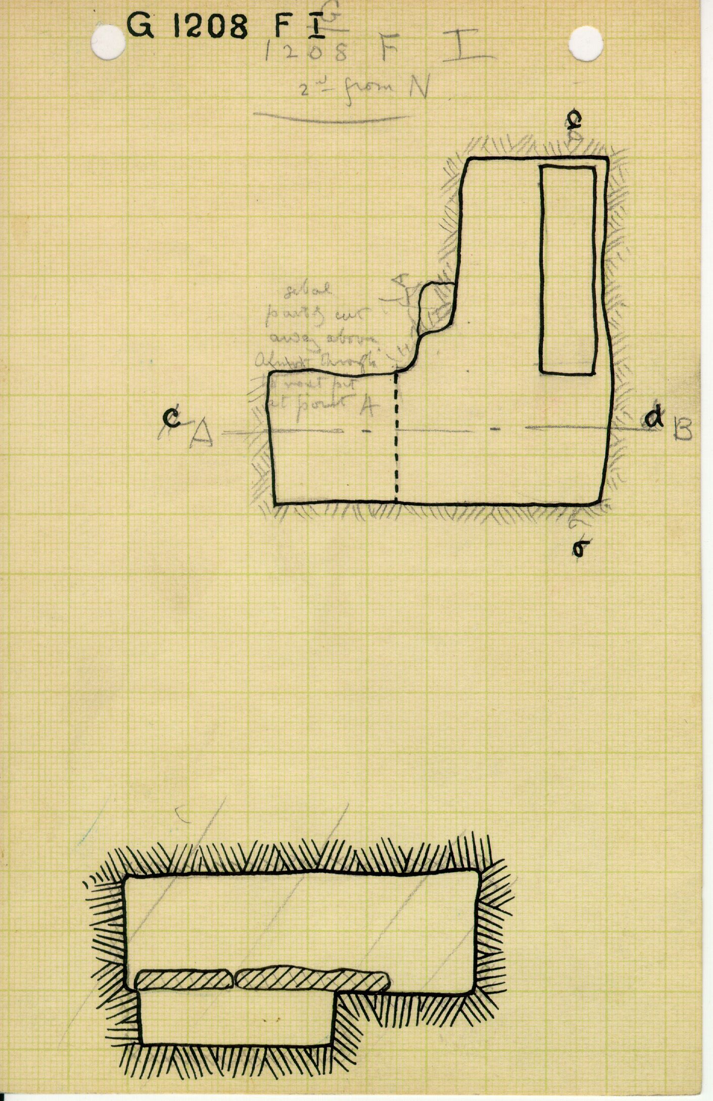 Maps and plans: G 1208, Shaft F (I)