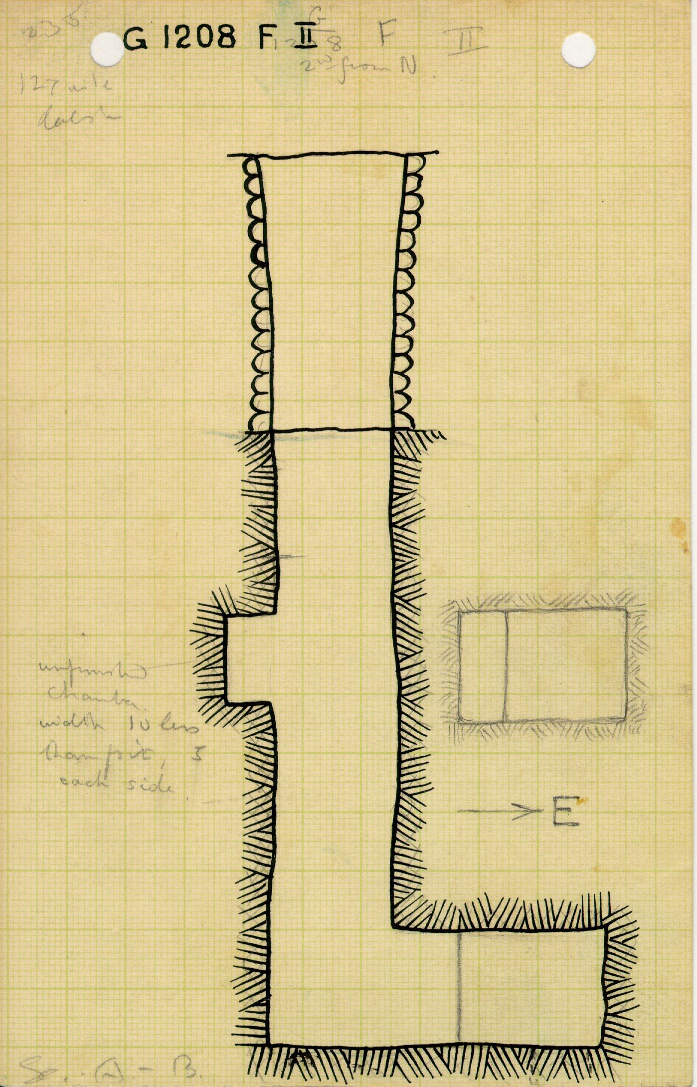 Maps and plans: G 1208, Shaft F (II)