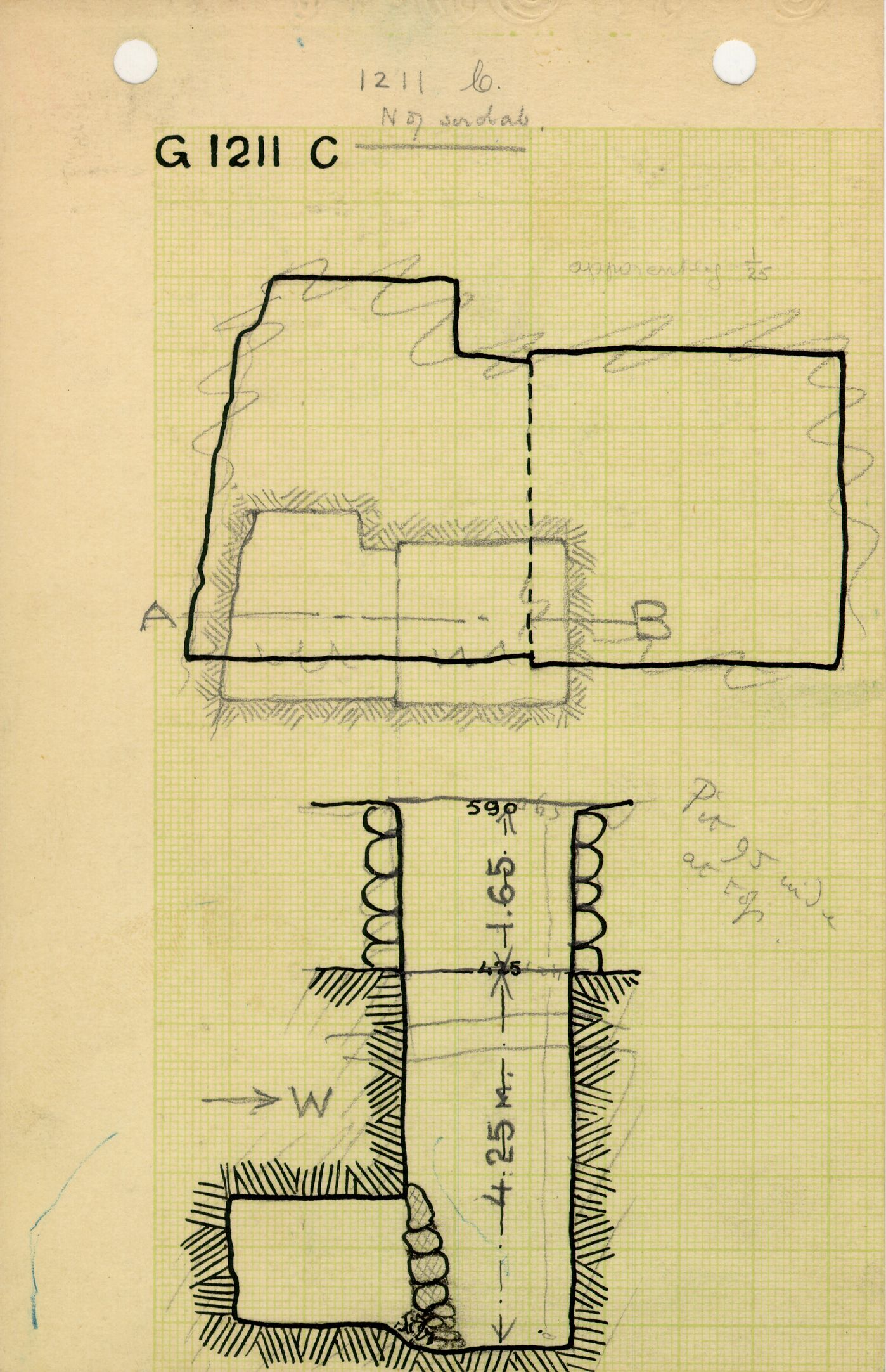 Maps and plans: G 1211, Shaft C