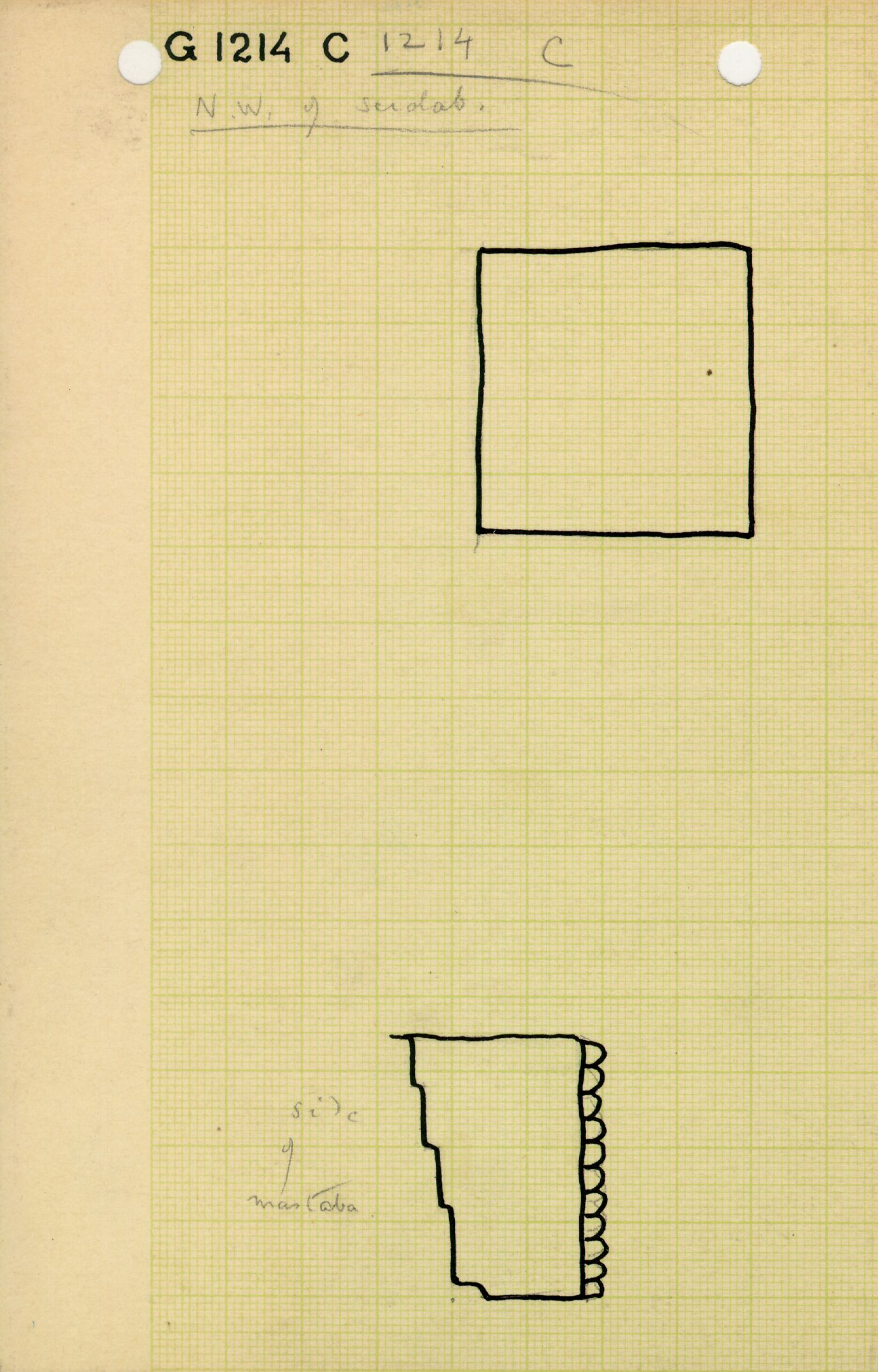 Maps and plans: G 1214, Shaft C