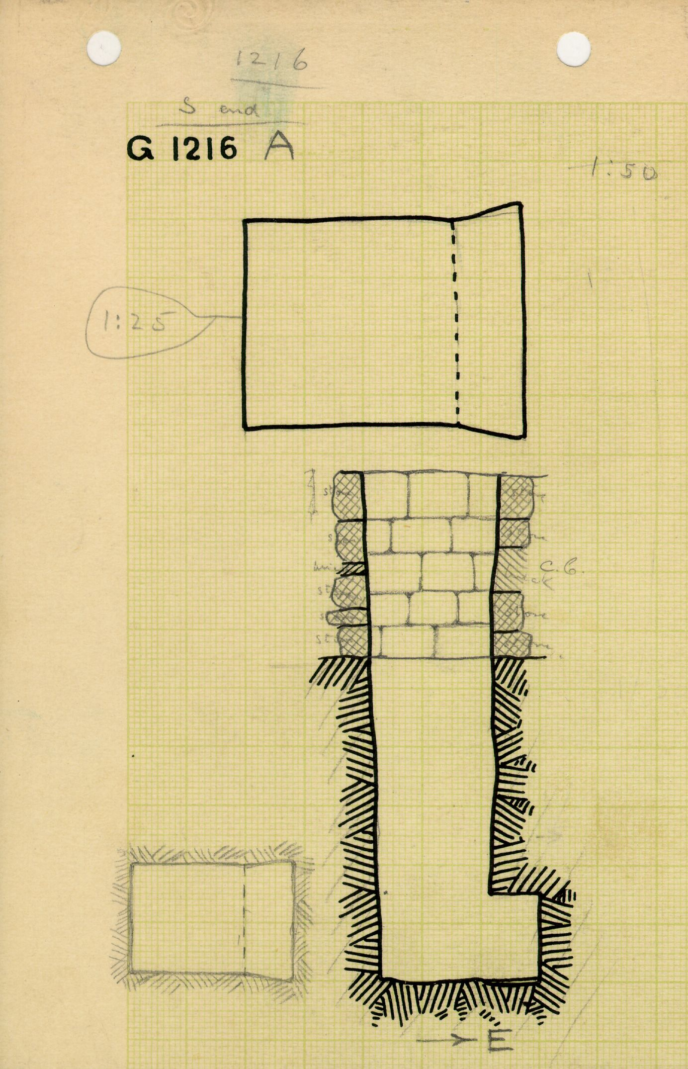Maps and plans: G 1216, Shaft A