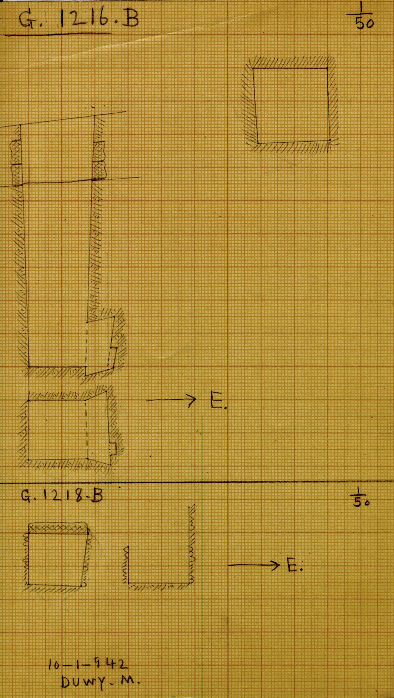 Maps and plans: G 1216, Shaft B & G 1218, Shaft B
