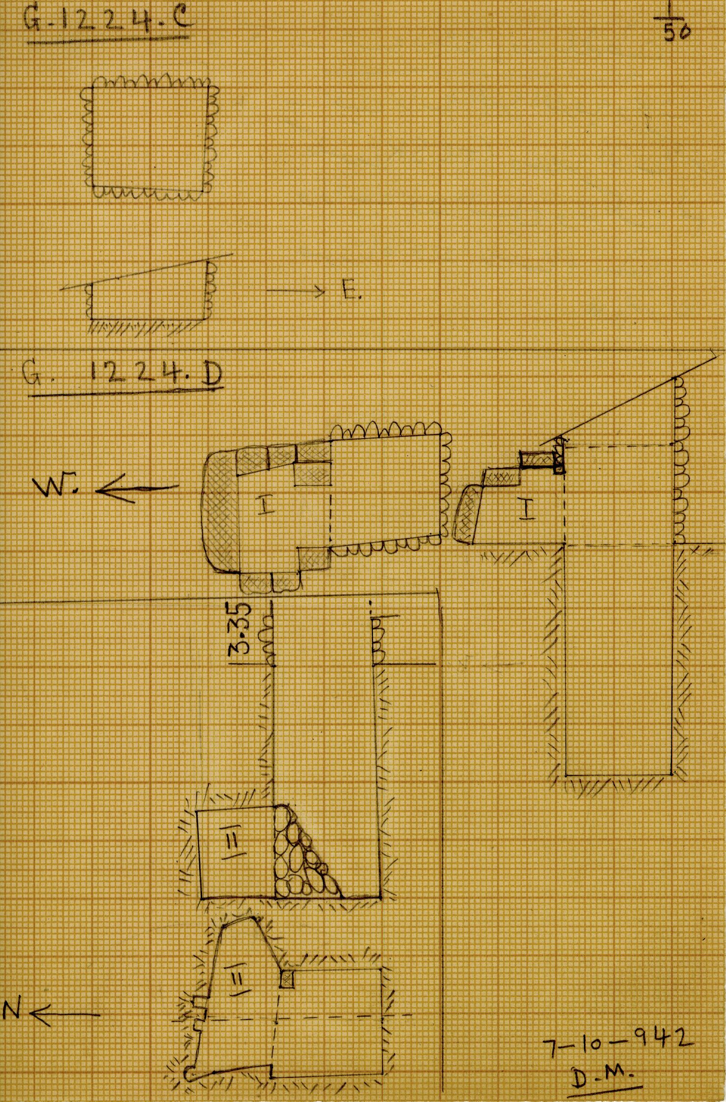 Maps and plans: G 1224+1311: G 1224, Shaft C and D