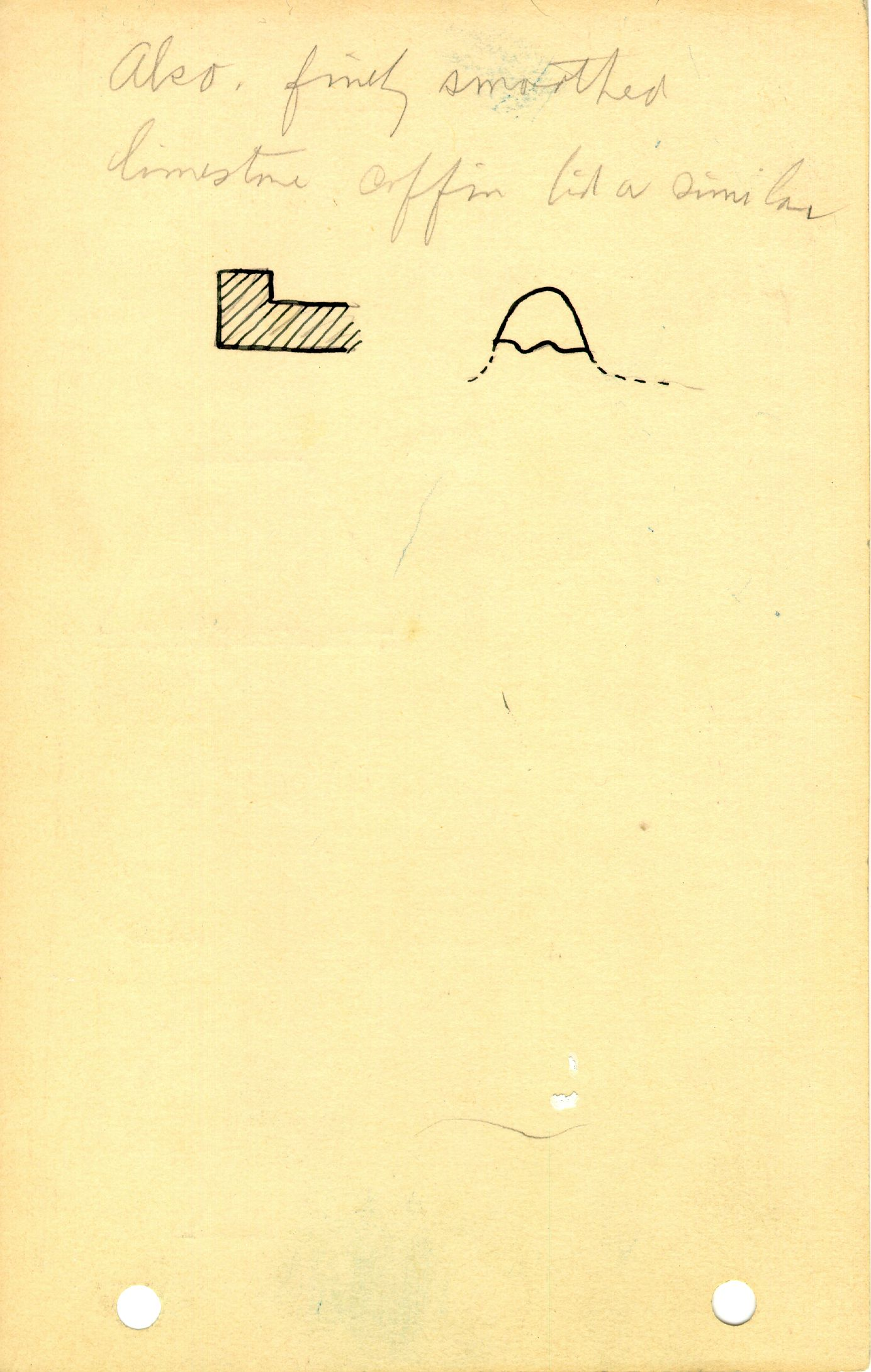 Notes: G 1225, Objects