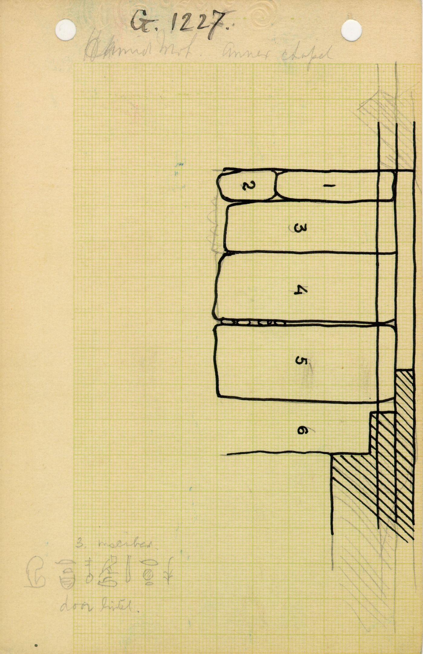 Maps and plans: G 1228 (= G 1227-Annex), Shaft X, roofing
