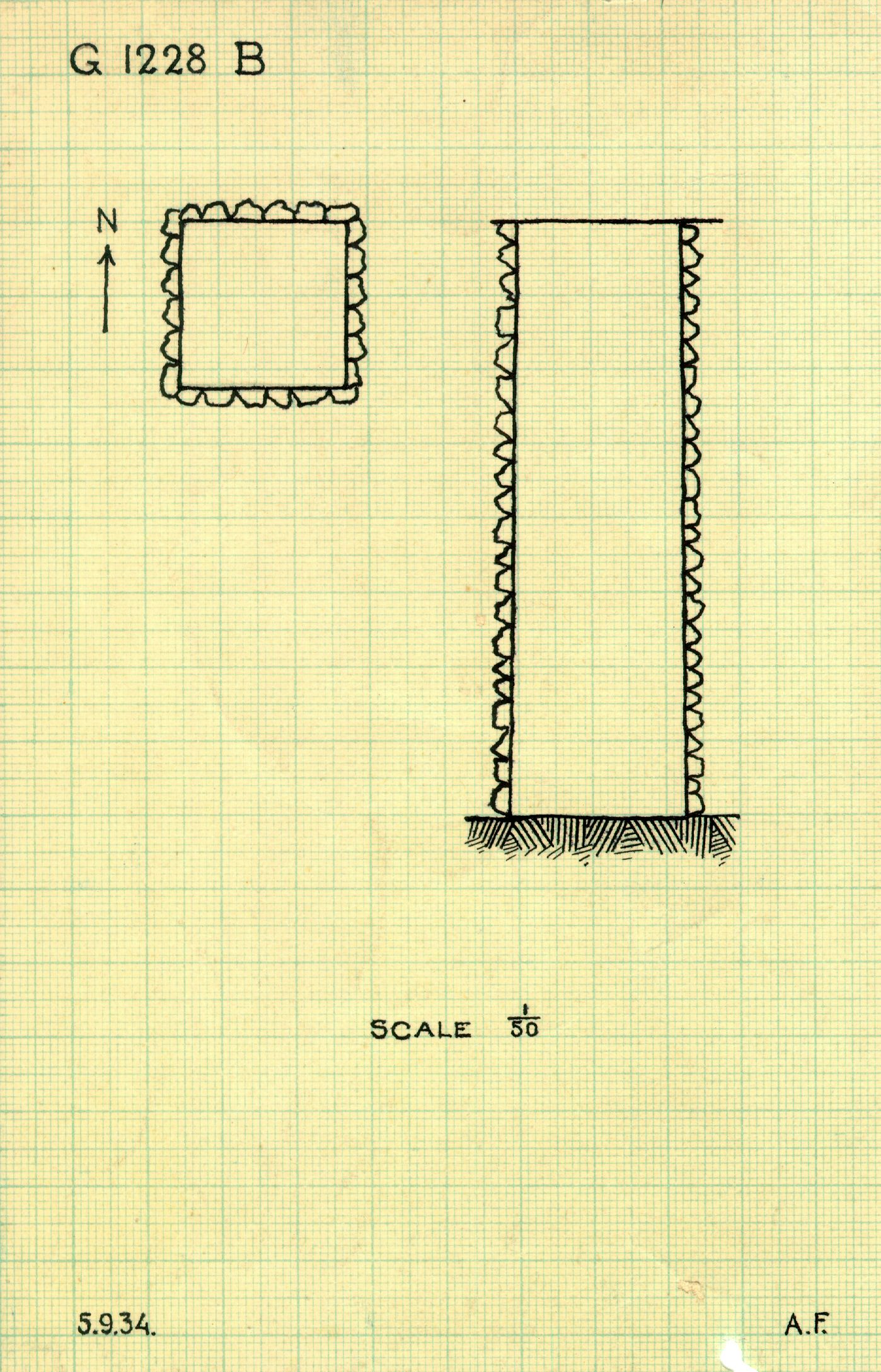 Maps and plans: G 1228 (= G 1227-Annex), Shaft B
