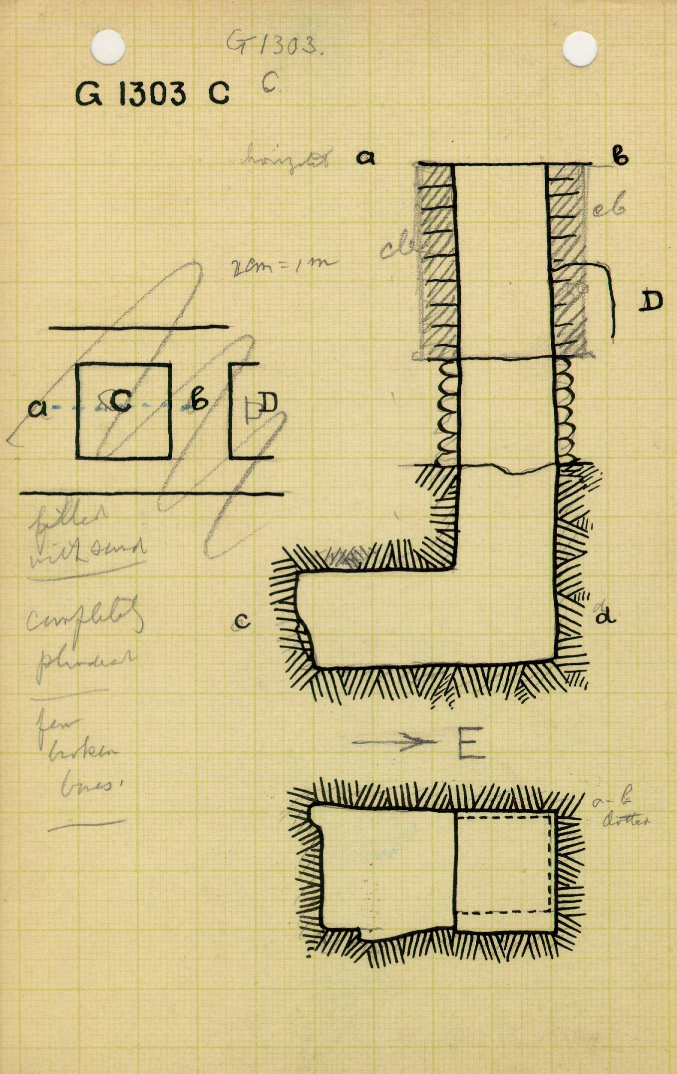 Maps and plans: G 1303, Shaft C