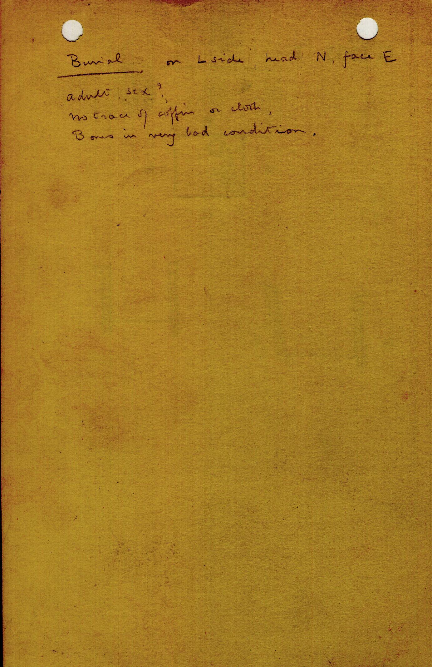 Notes: G 1303, Shaft I, notes