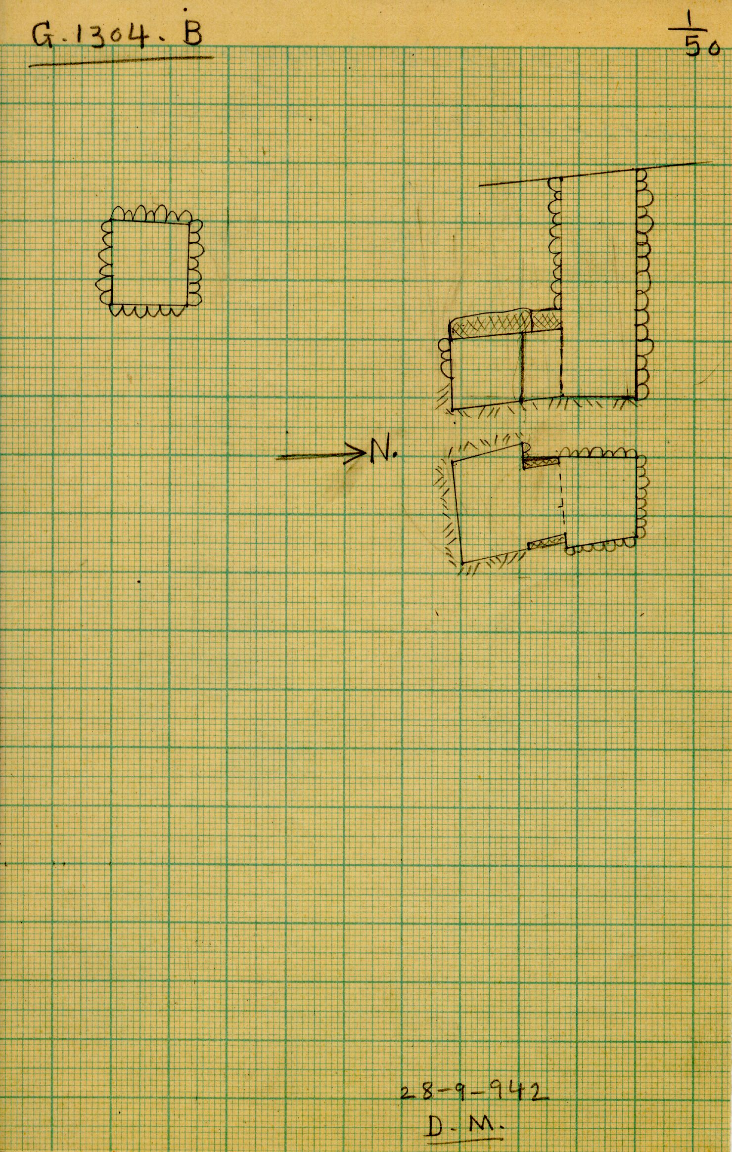 Maps and plans: G 1304, Shaft B