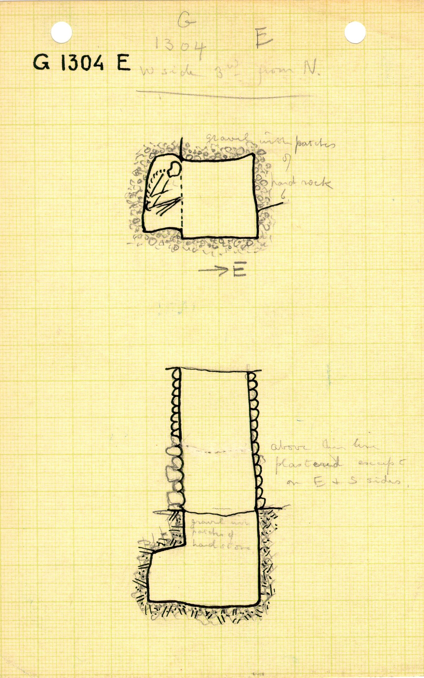 Maps and plans: G 1304, Shaft E