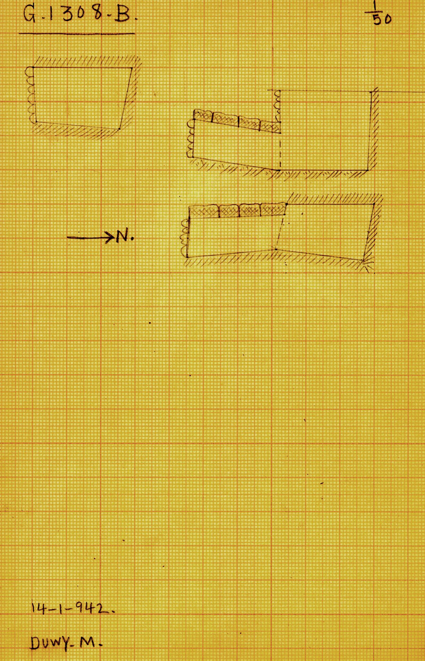 Maps and plans: G 1308, Shaft B