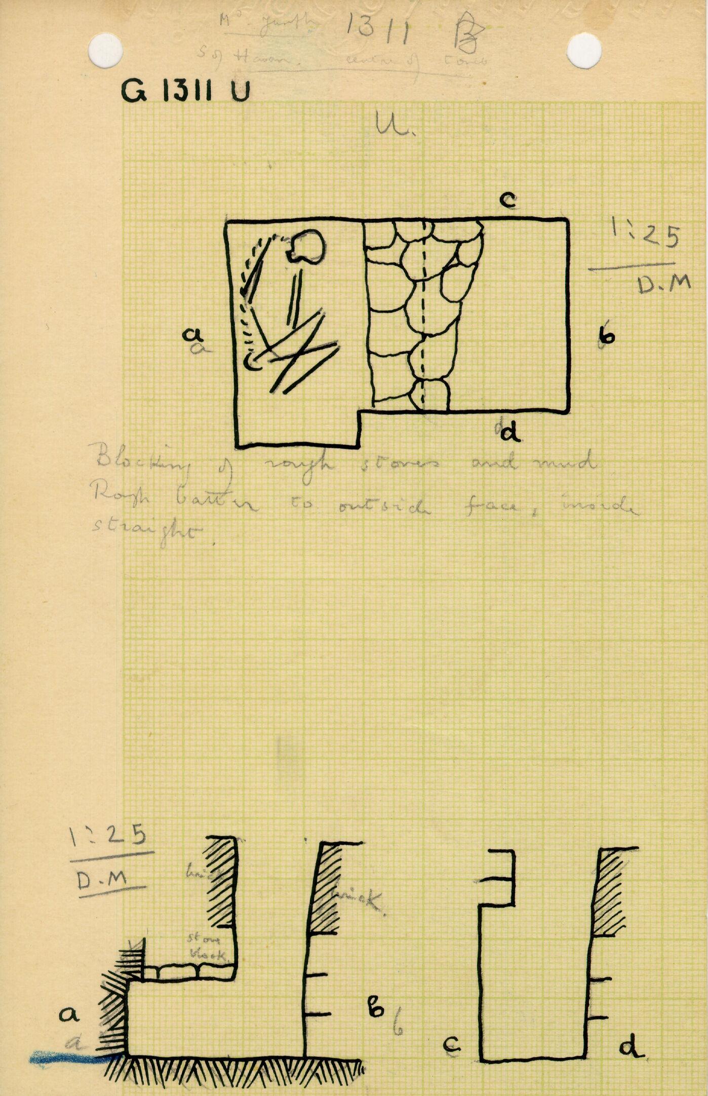 Maps and plans: G 1311, Shaft U